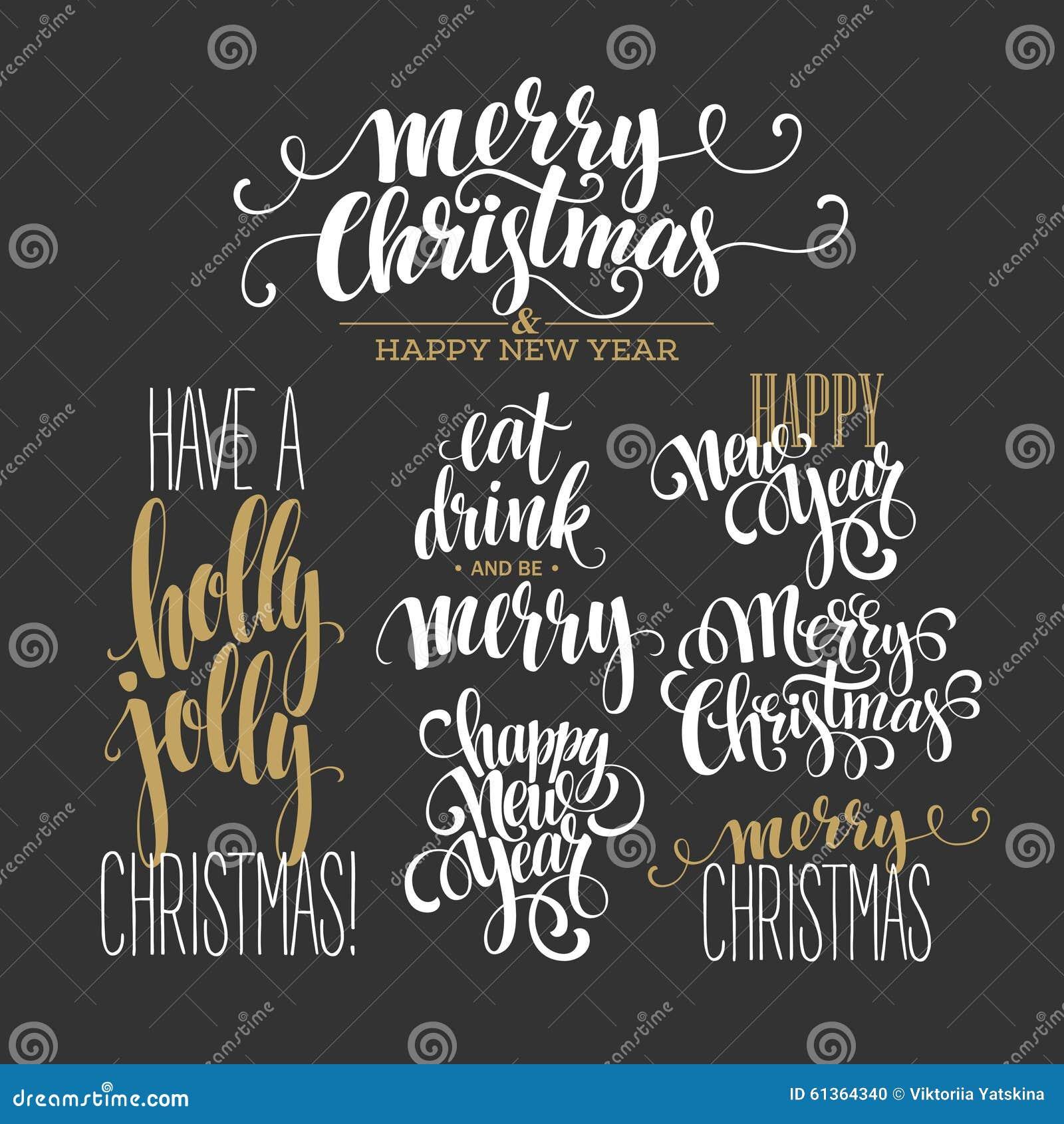 Frohe Weihnacht-Briefgestaltungs-Satz Vektor