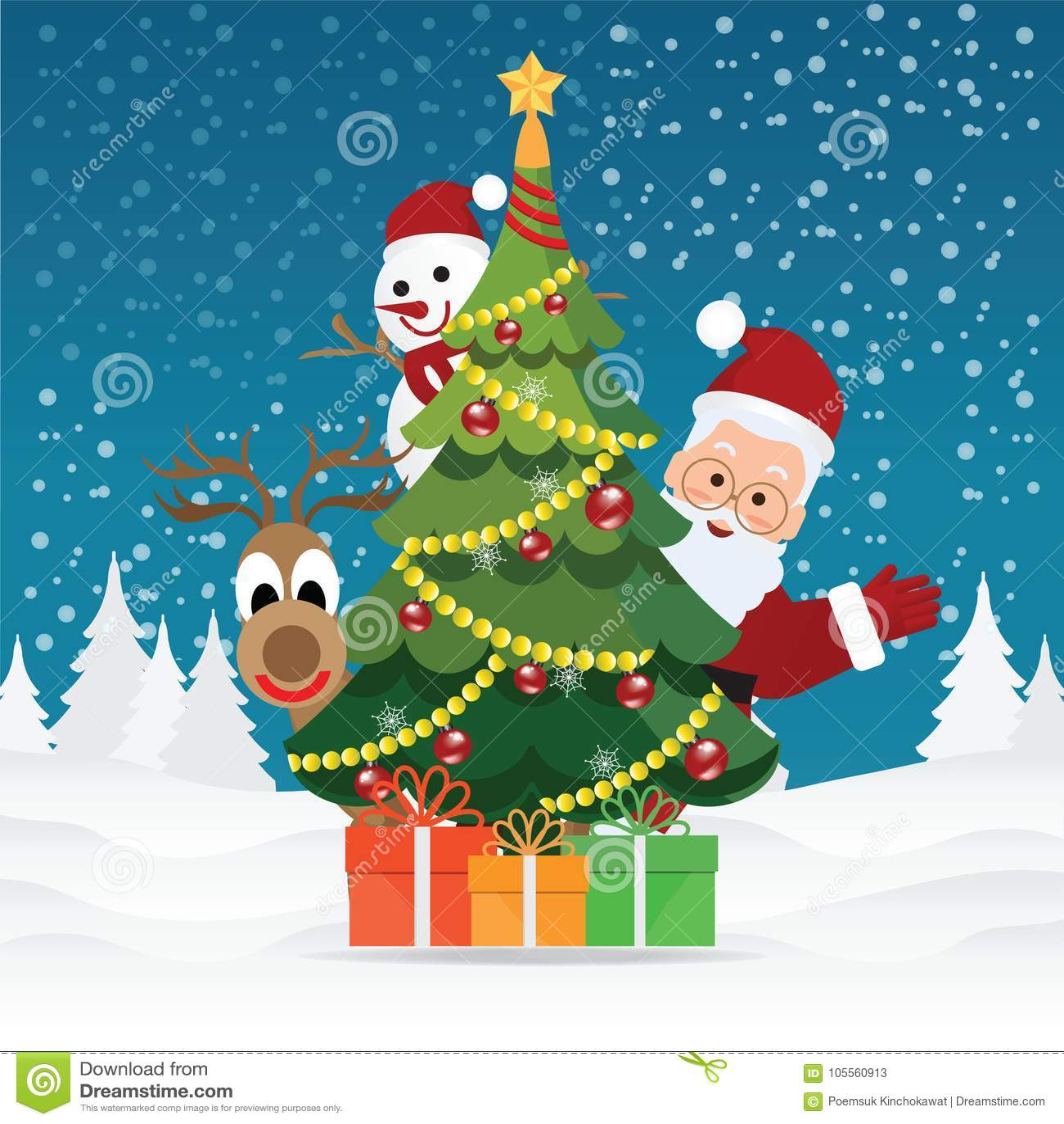 Frohe Weihnachten Grüße.Frohe Weihnacht Gruß Karte Mit Weihnachten Santa Claus Vektor