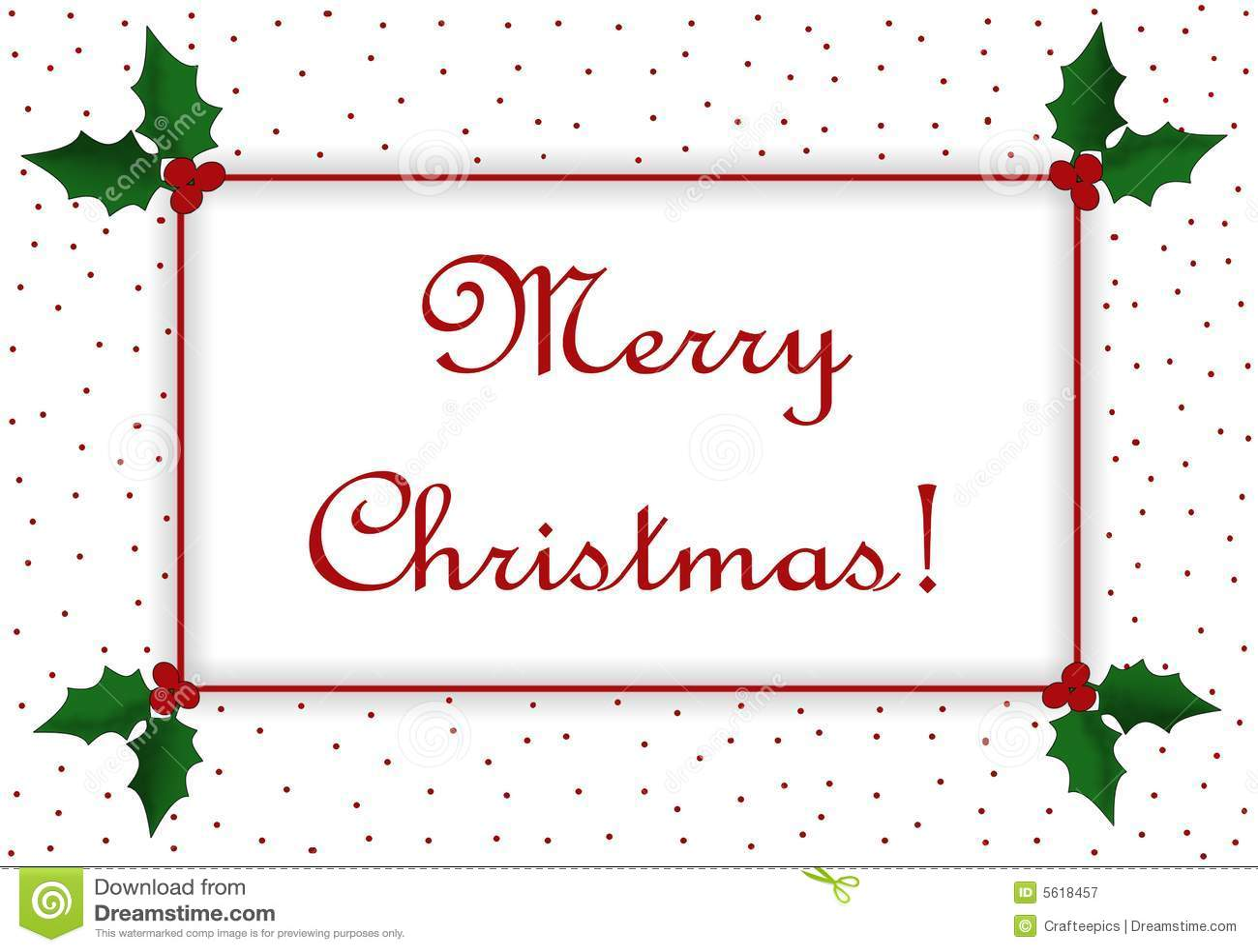 Frohe Weihnacht-Meldung stock abbildung. Illustration von stechpalme ...