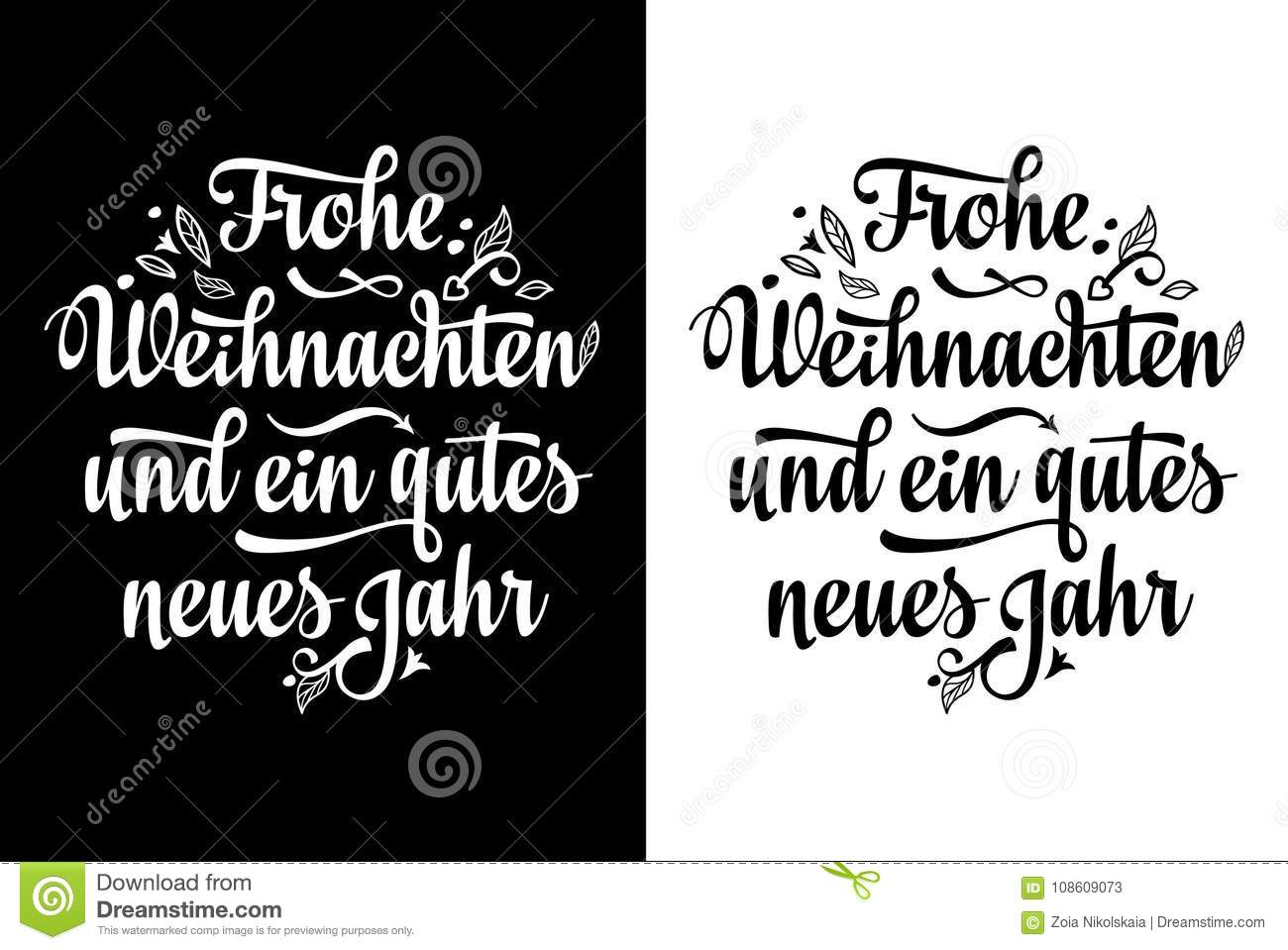 Frohe Weihnacht. Neues Jahr. Christmas In Germany Stock Vector ...