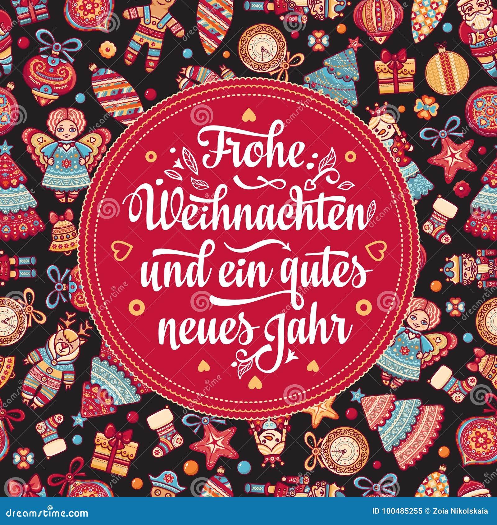 Frohe Weihnachten Aus Deutschland.Frohe Weihnachten Neues Jahr Congratulations In German