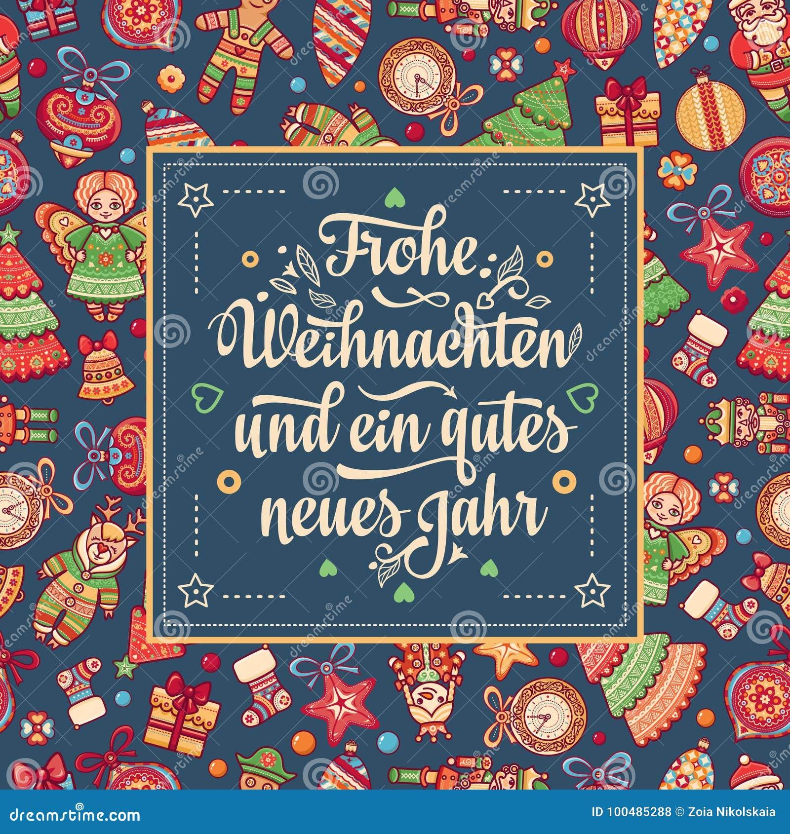 Frohe Weihnachten. Neues Jahr. Congratulations In German Language ...