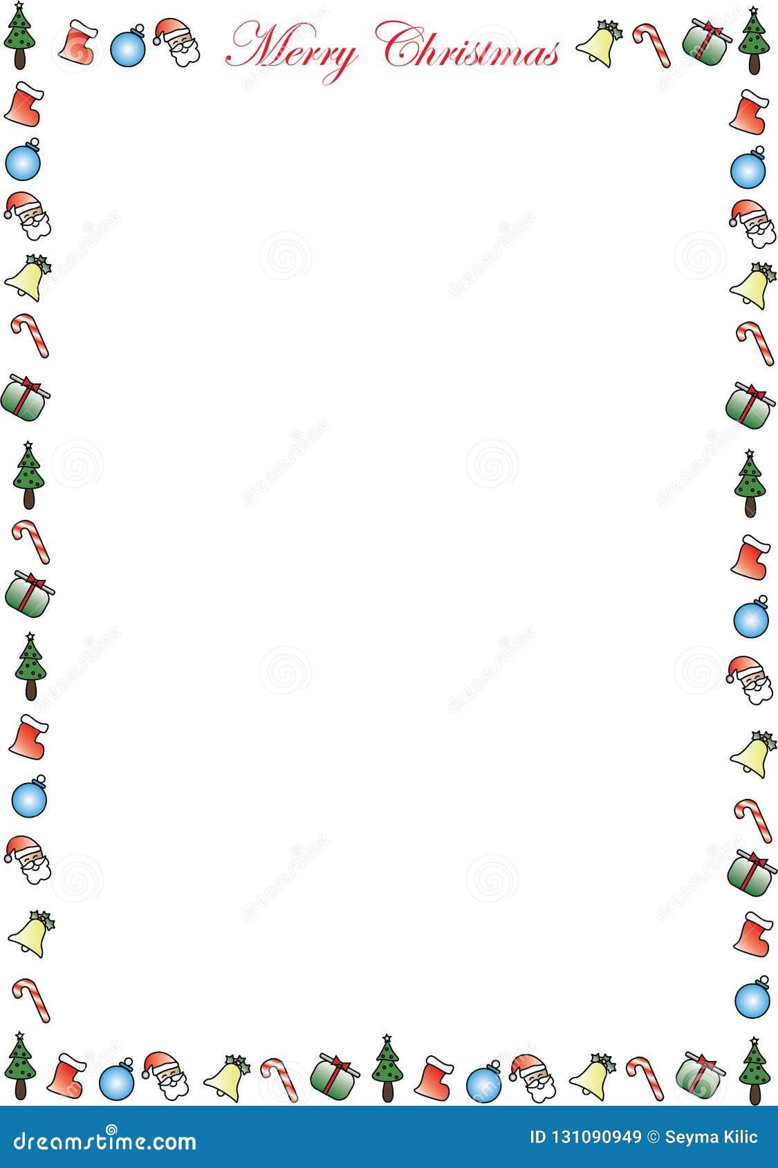 Fotorahmen Weihnachten.Frohe Weihnacht Rahmen Potrait Vektor Abbildung Illustration Von