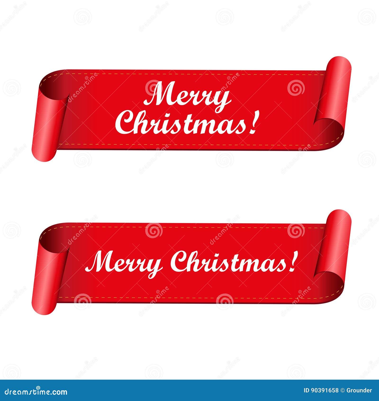 Frohe Weihnachten Band.Frohe Weihnacht Rot Band Vektor Abbildung Illustration Von Rabatt