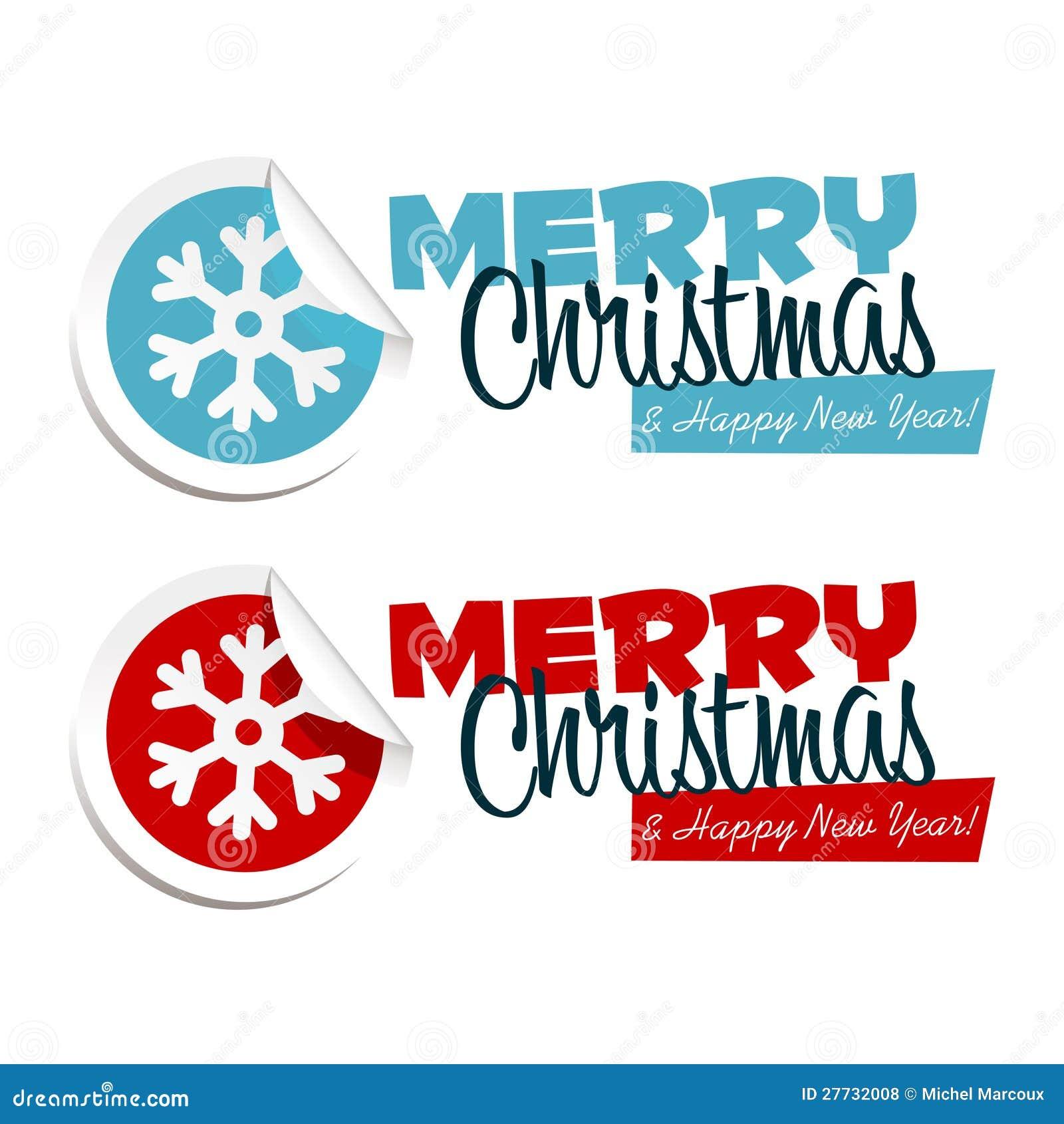 Frohe Weihnacht-Schneeflocke-Aufkleber