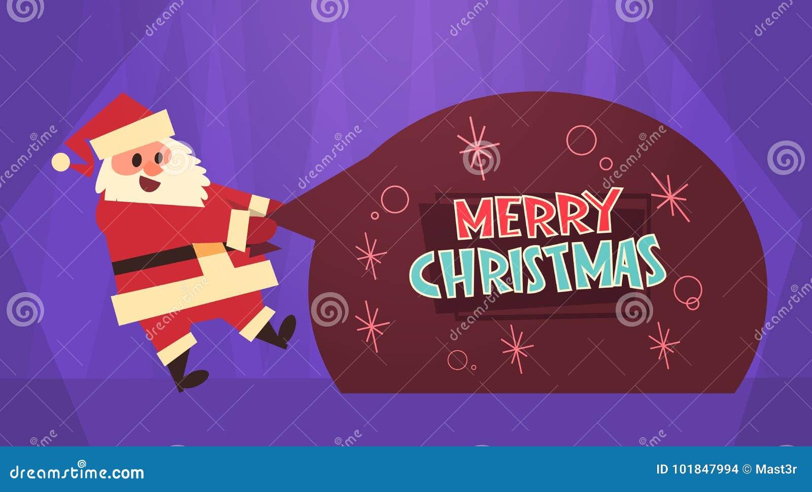 Frohe Weihnacht-und Guten Rutsch Ins Neue Jahr-Gruß-Karten-Santa ...