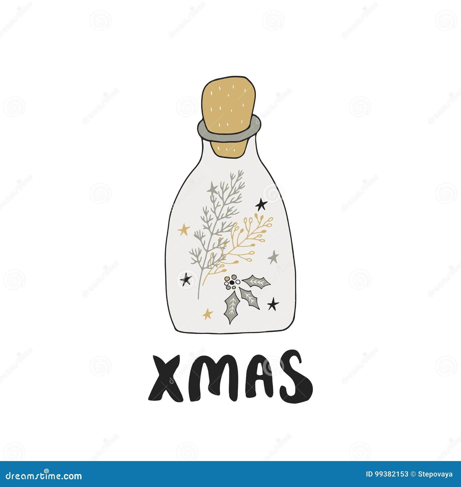 Frohe Weihnachten - übergeben Sie Gezogene Weihnachtsbeschriftung ...