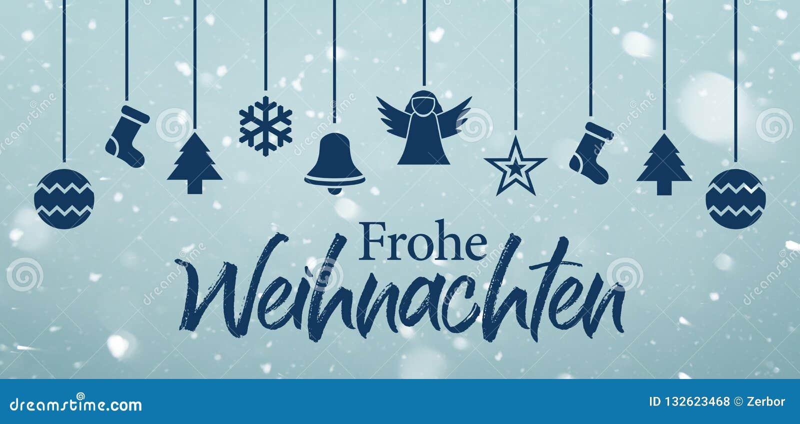 Frohe Weihnachten Frohe Weihnachten Auf Deutsch Stock