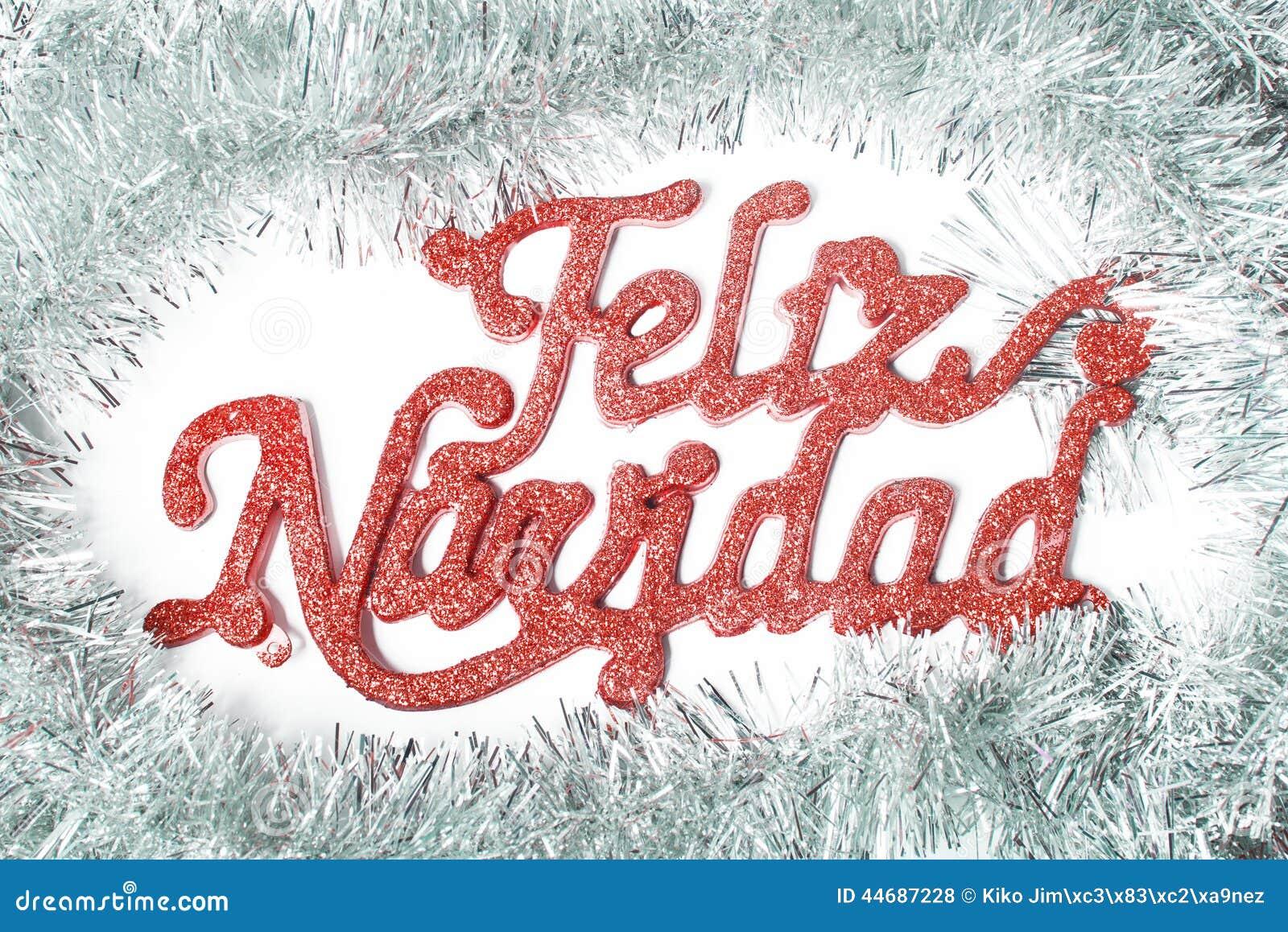 frohe weihnachten auf spanisch stockfoto bild 44687228