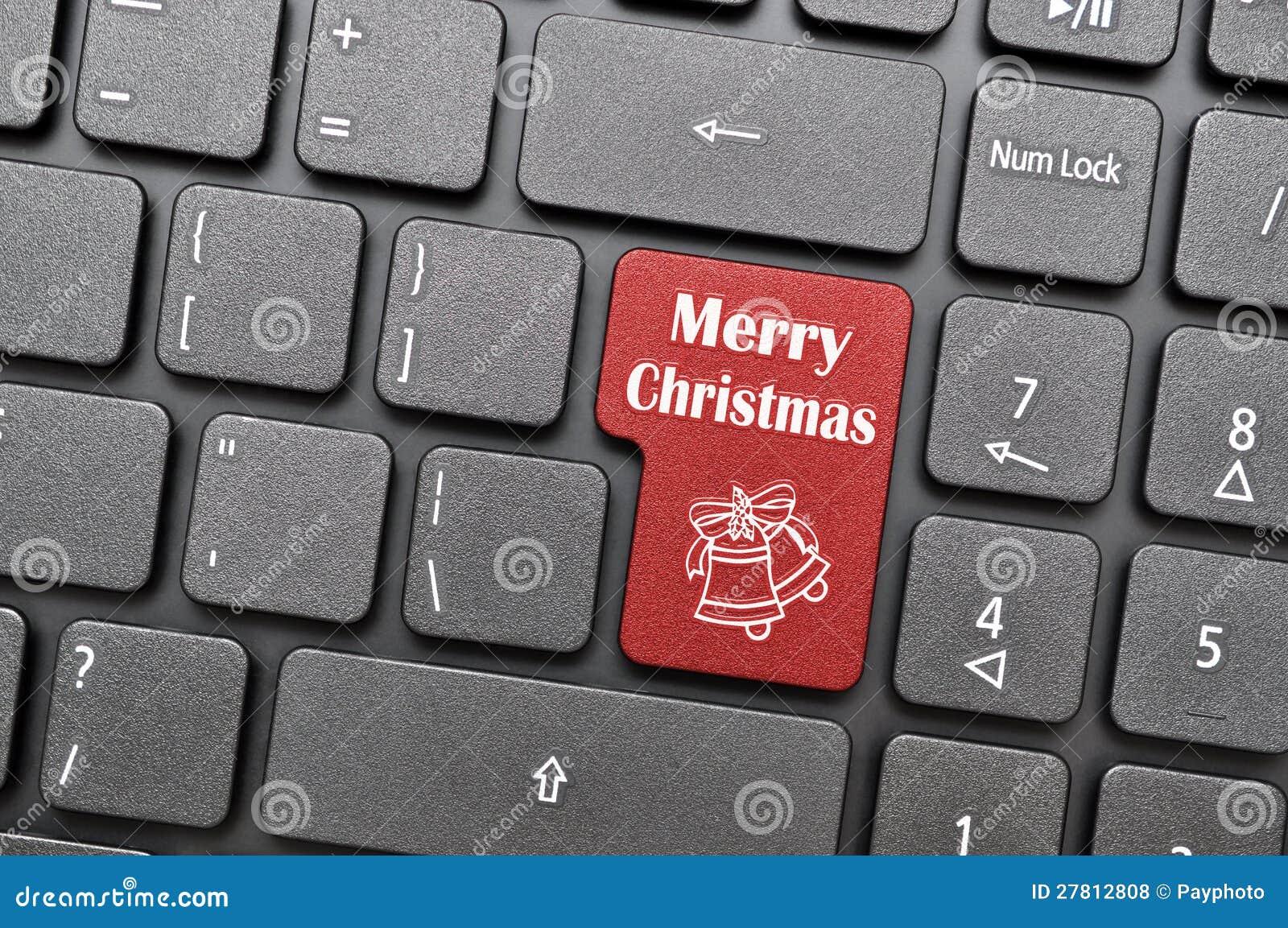 frohe weihnachten auf tastatur stock abbildung bild. Black Bedroom Furniture Sets. Home Design Ideas