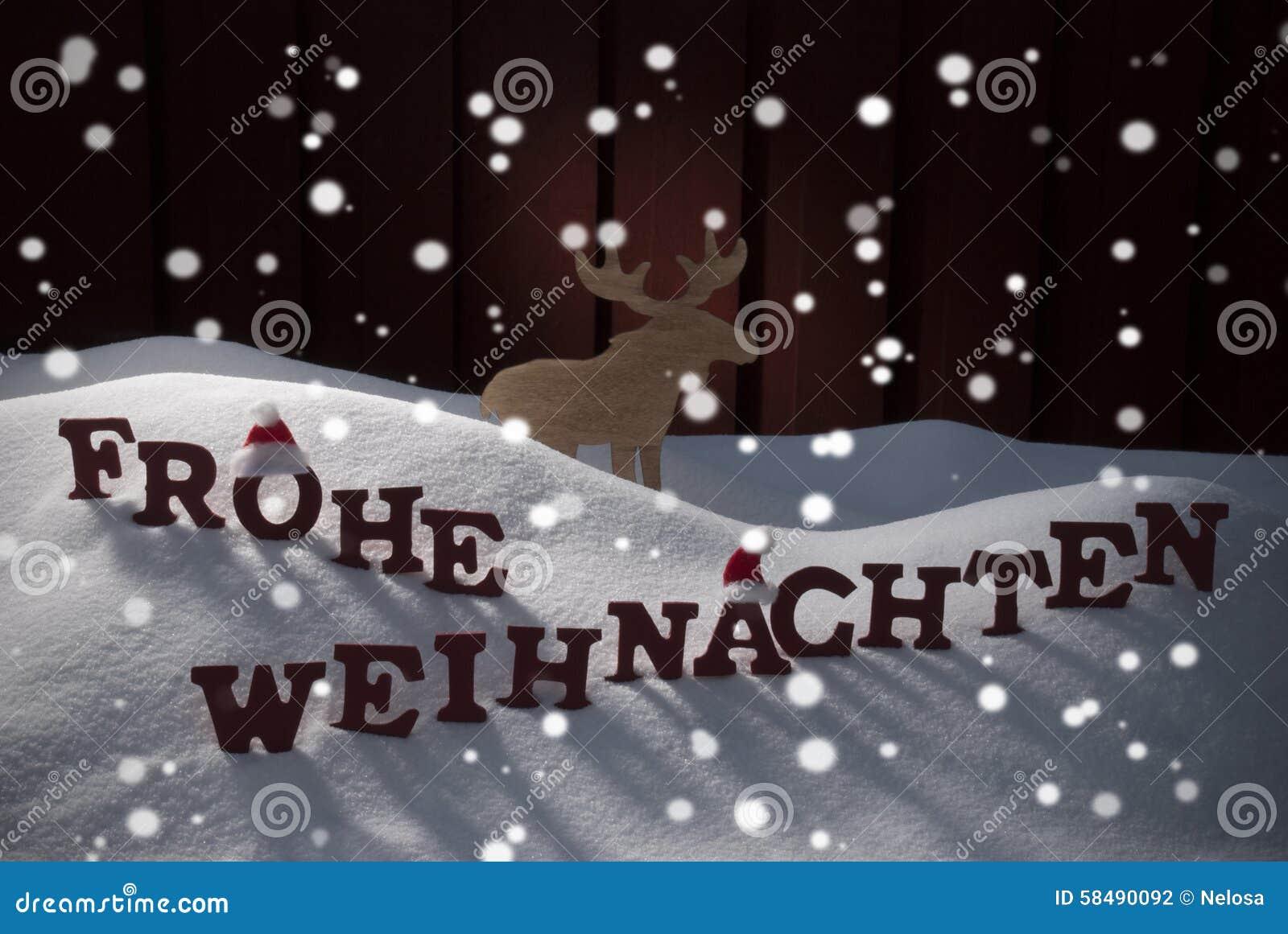 frohe weihnachten bedeutet frohe weihnacht elche stockfoto. Black Bedroom Furniture Sets. Home Design Ideas