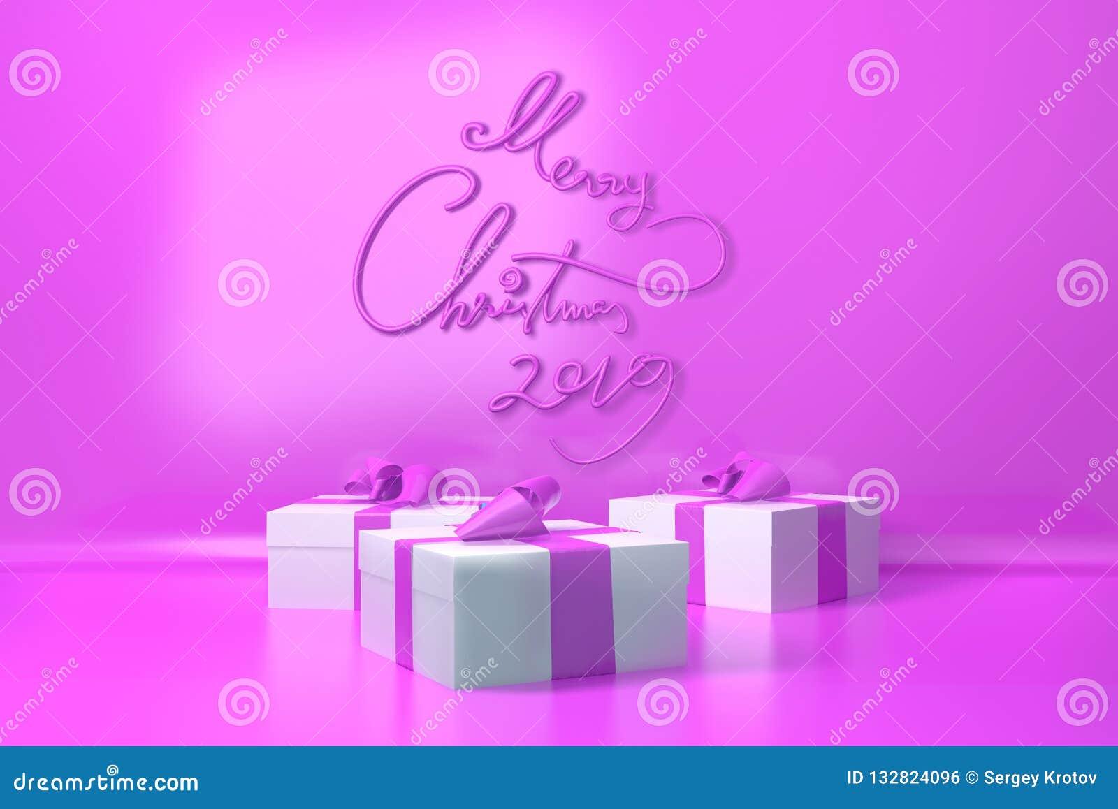 Frohe Weihnachten Brief.Frohe Weihnachten 2019 Brief Geschrieben In Modische Rosa