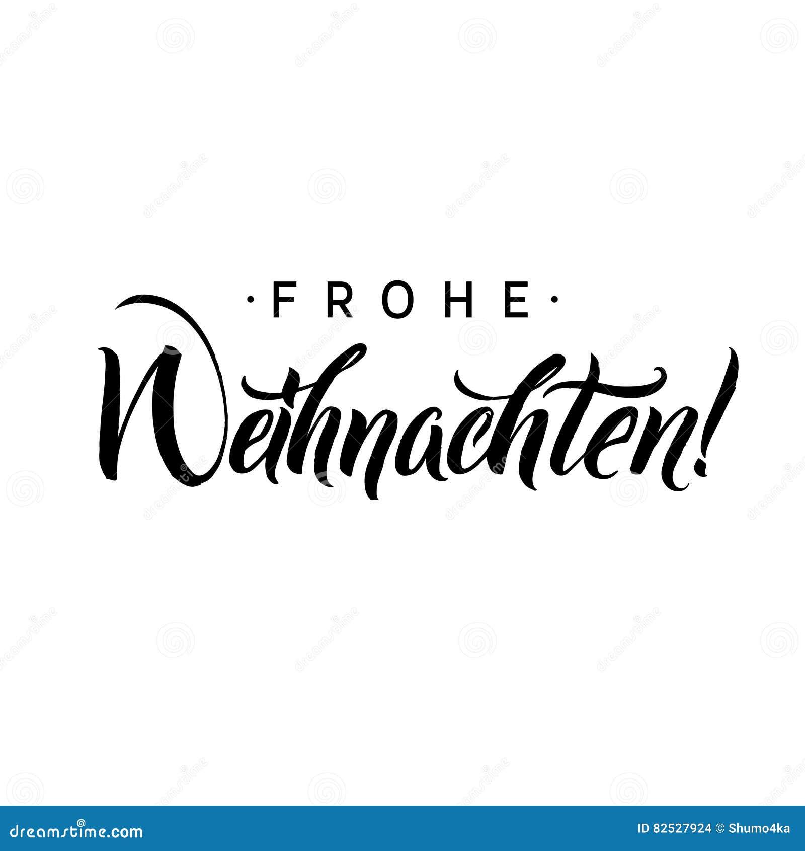 frohe weihnachten calligraphie de joyeux no l en allemand. Black Bedroom Furniture Sets. Home Design Ideas
