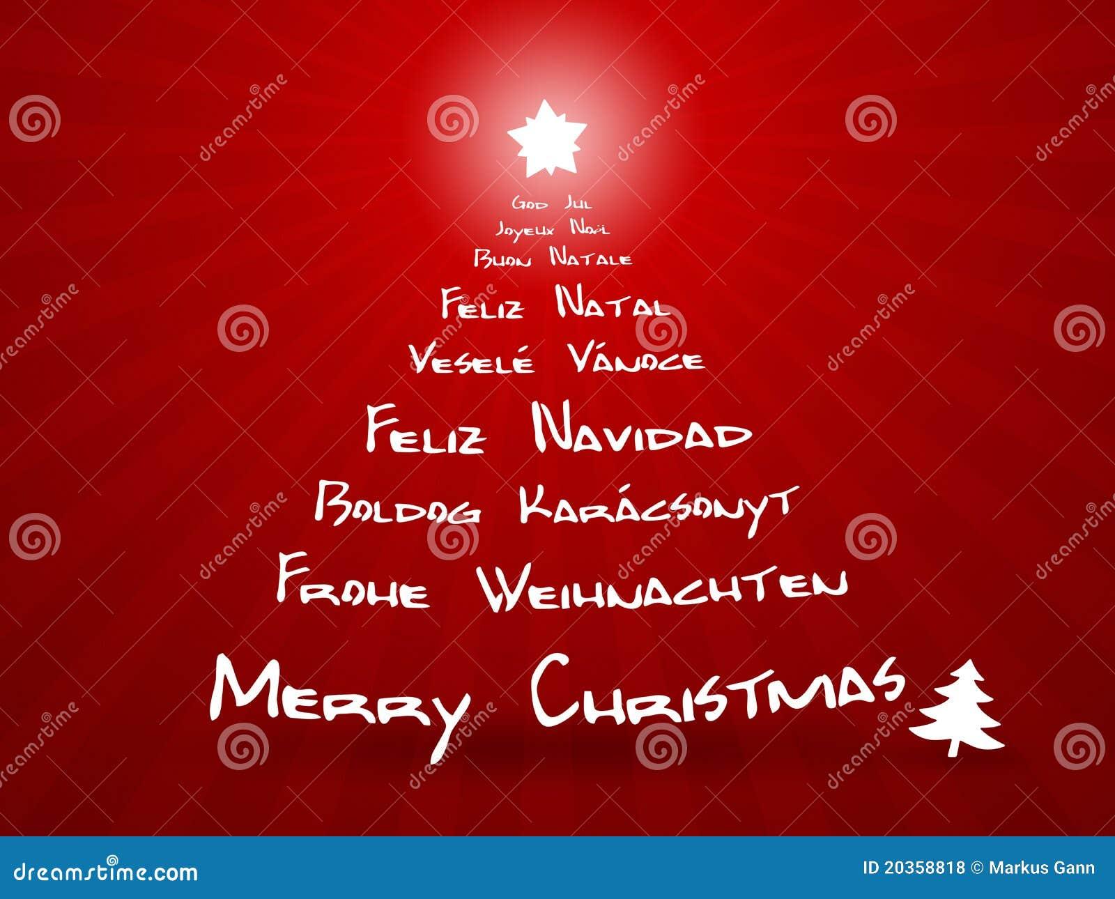 übersetzer Frohe Weihnachten.Frohe Weihnachten In Den Verschiedenen Sprachen Stock Abbildung