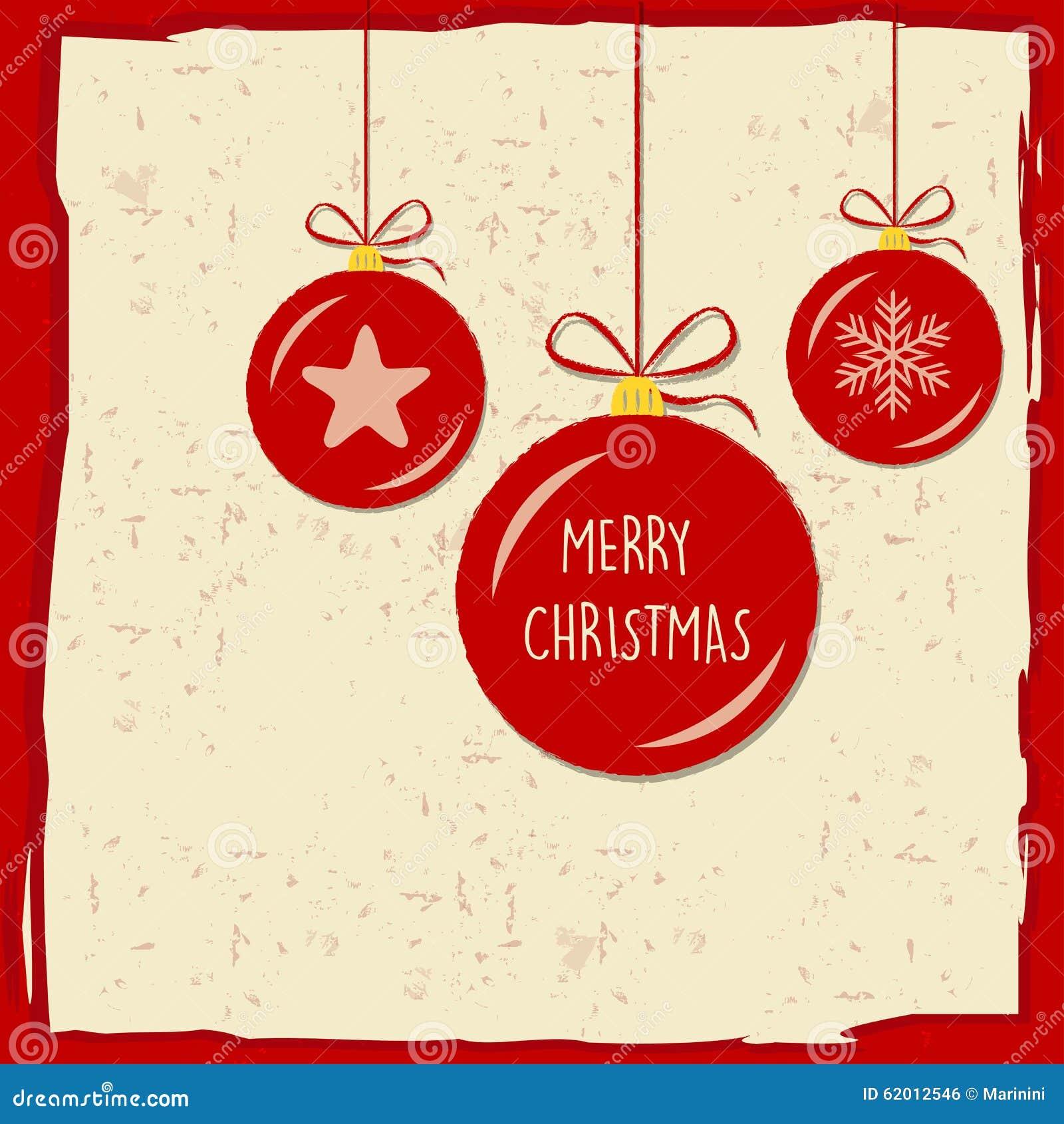 Frohe Weihnachten Rahmen.Frohe Weihnachten In Den Weihnachtsbällen Im Roten Rahmen Grußkarte