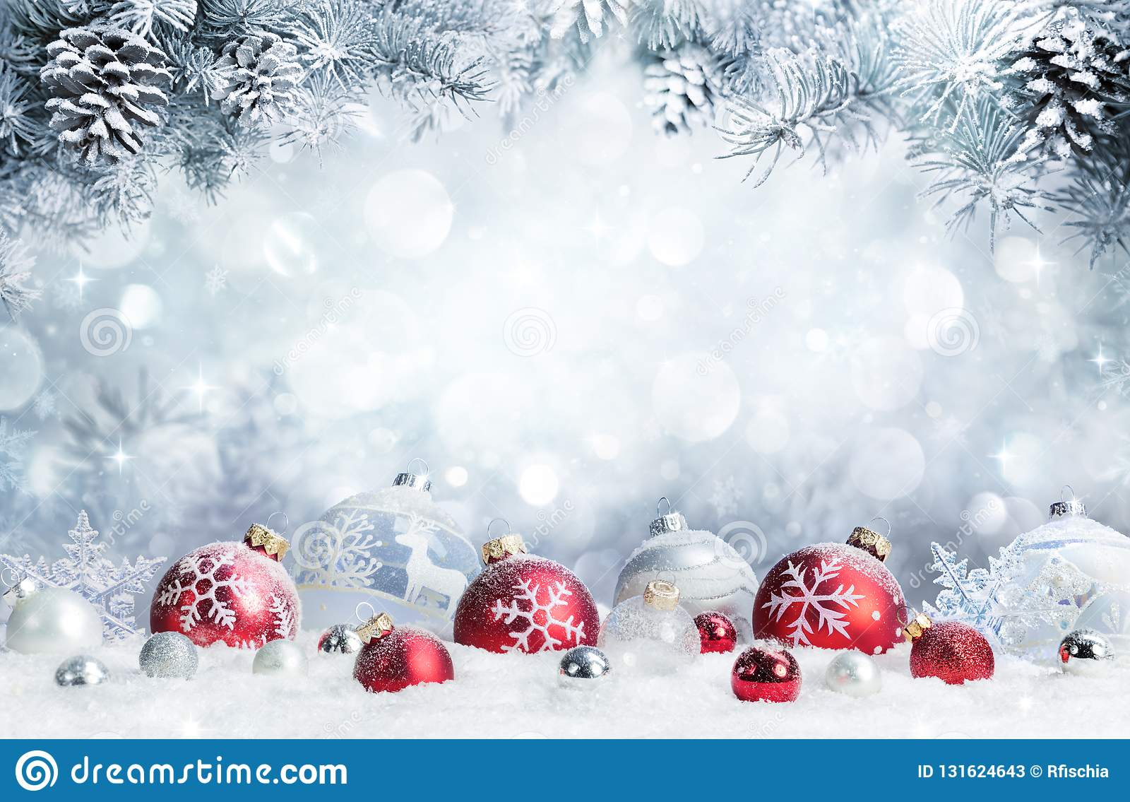 frohe weihnachten flitter auf schnee stockbild bild. Black Bedroom Furniture Sets. Home Design Ideas