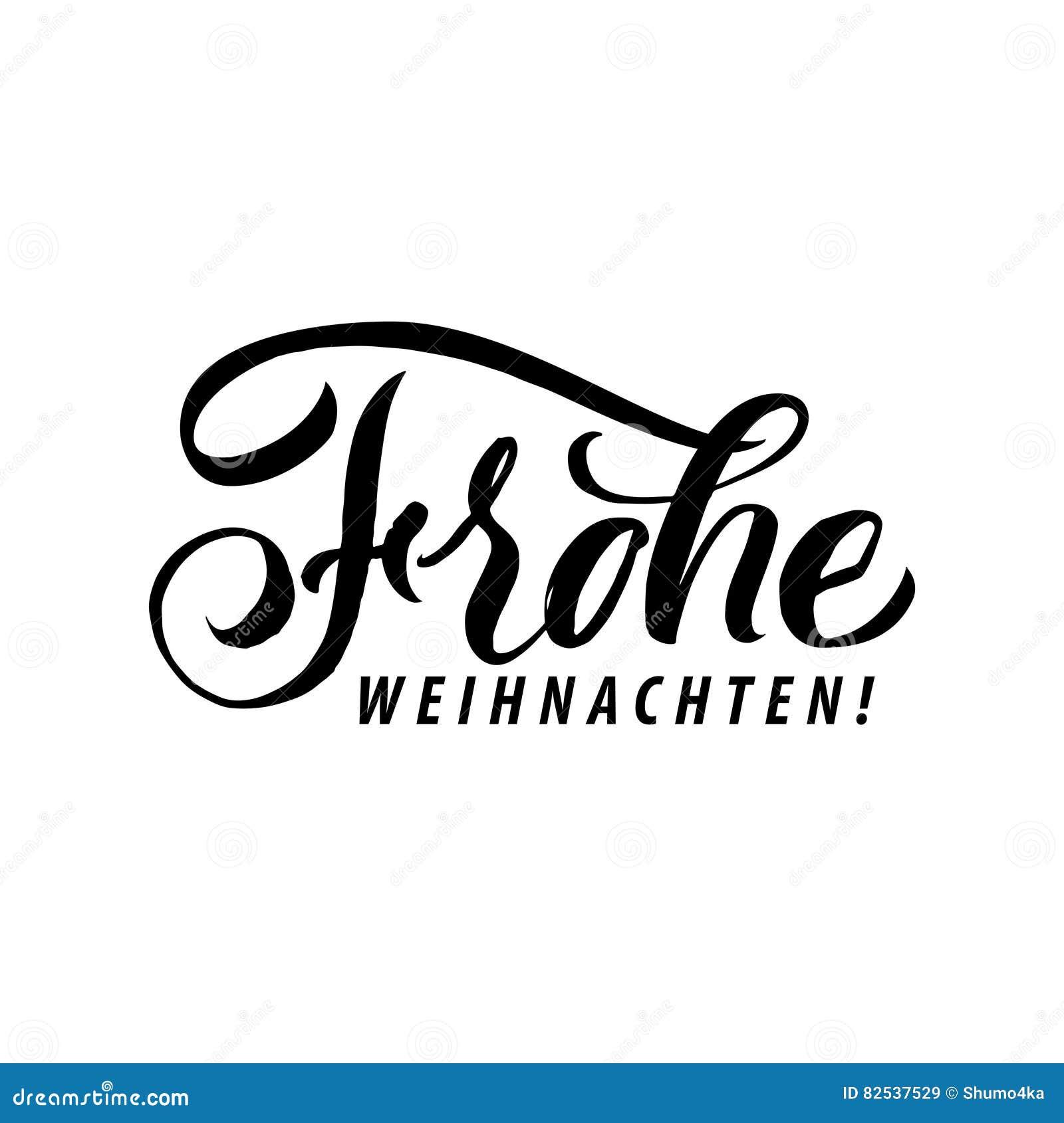 frohe weihnachten frohe weihnacht kalligraphie auf deutsch. Black Bedroom Furniture Sets. Home Design Ideas