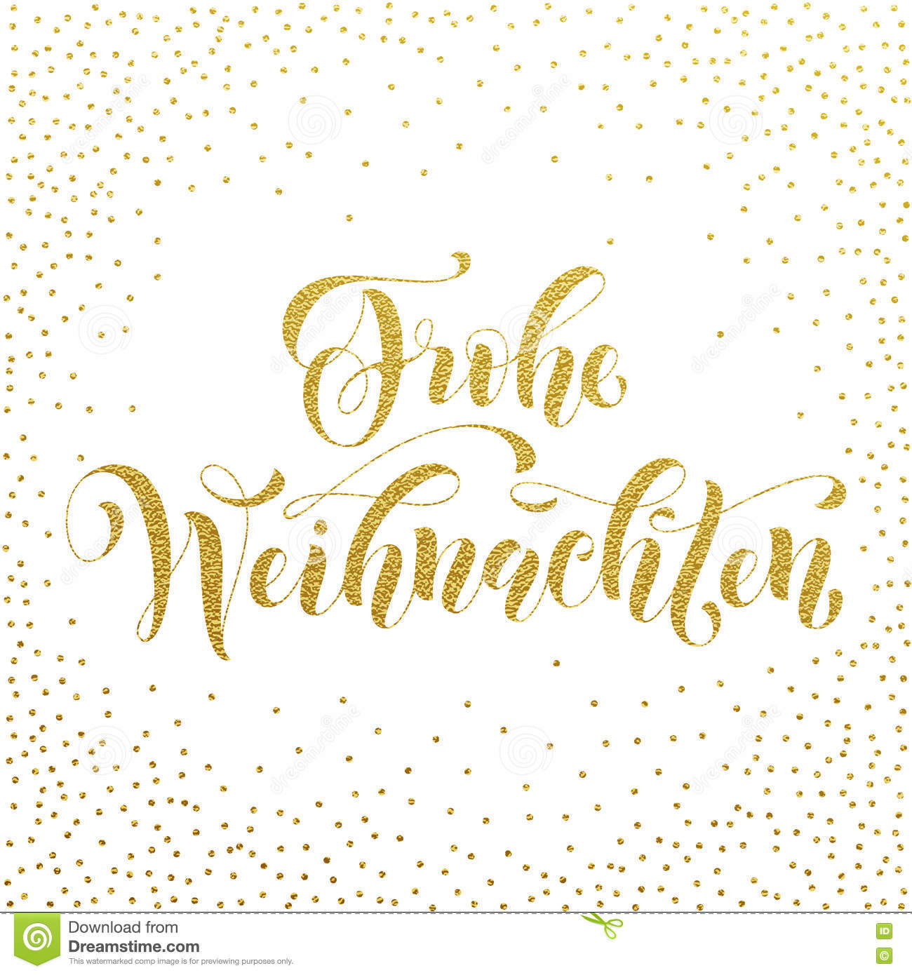 frohe weihnachten german christmas gold greeting stock illustration illustration of letter