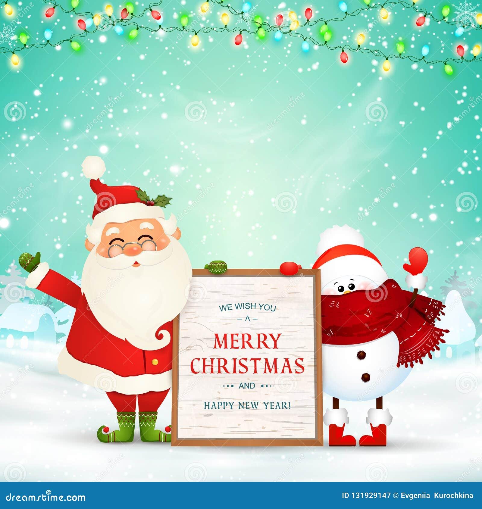 Frohe Weihnachten Lustige Bilder.Frohe Weihnachten Gluckliches Neues Jahr Lustige Santa Claus
