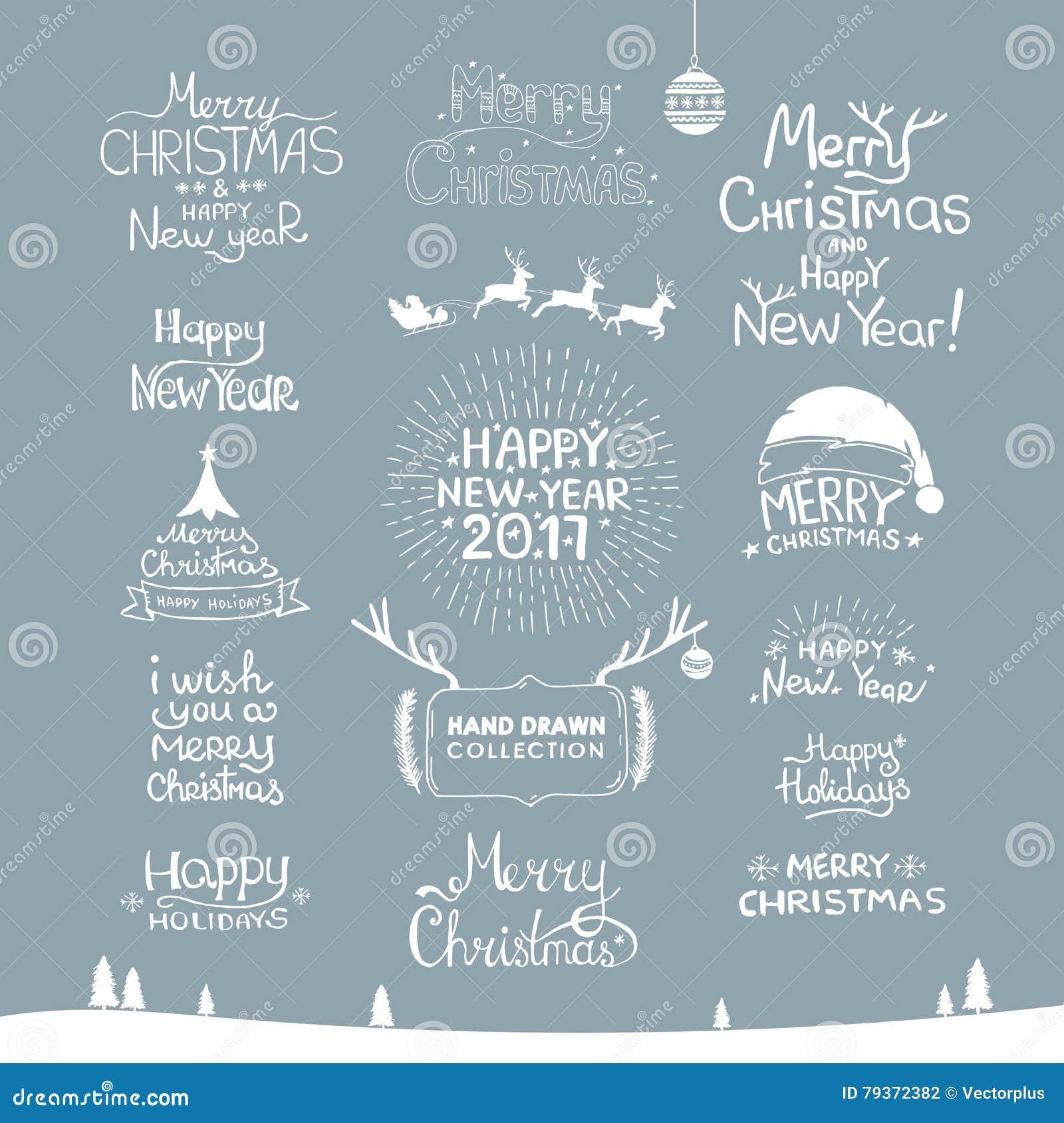 Frohe Weihnachten Guten Rutsch Ins Neue Jahr, 2017 Typografiesatz ...