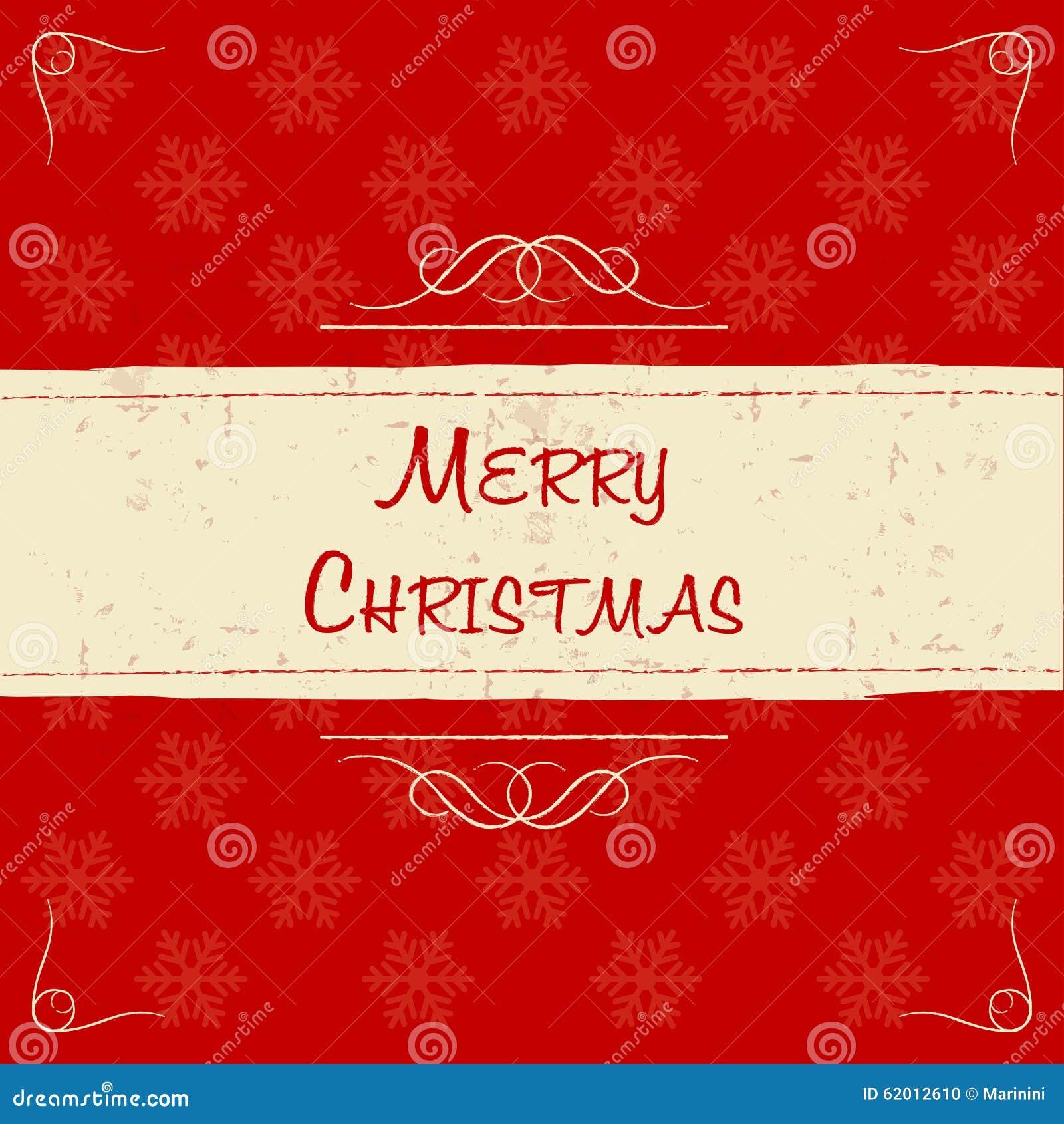 Frohe Weihnachten Im Retro- Beige Rahmen, Grußkarte Stock Abbildung ...