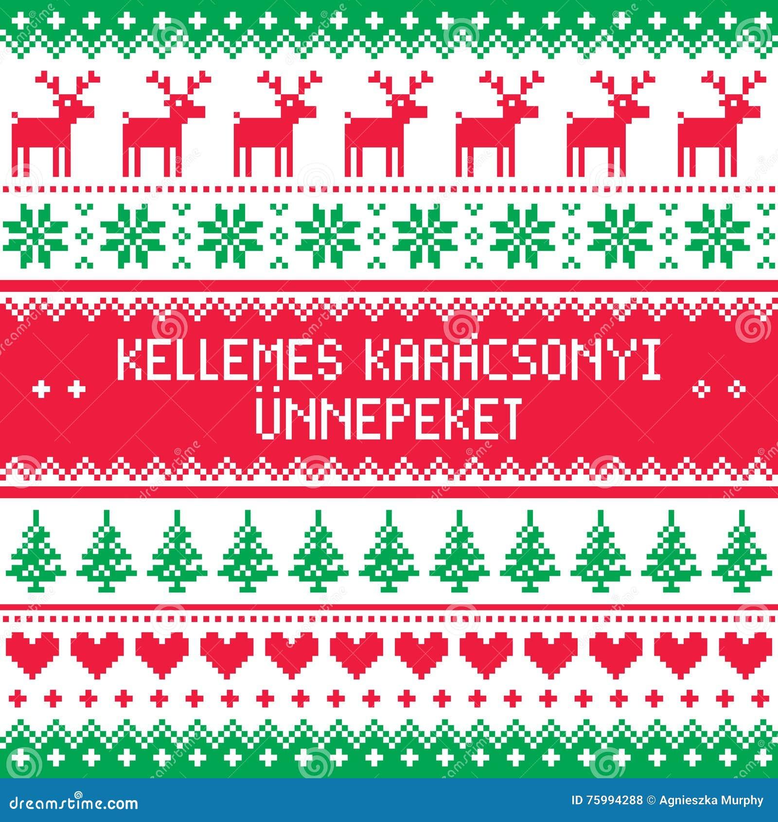 Frohe weihnachten guten rutsch ungarisch
