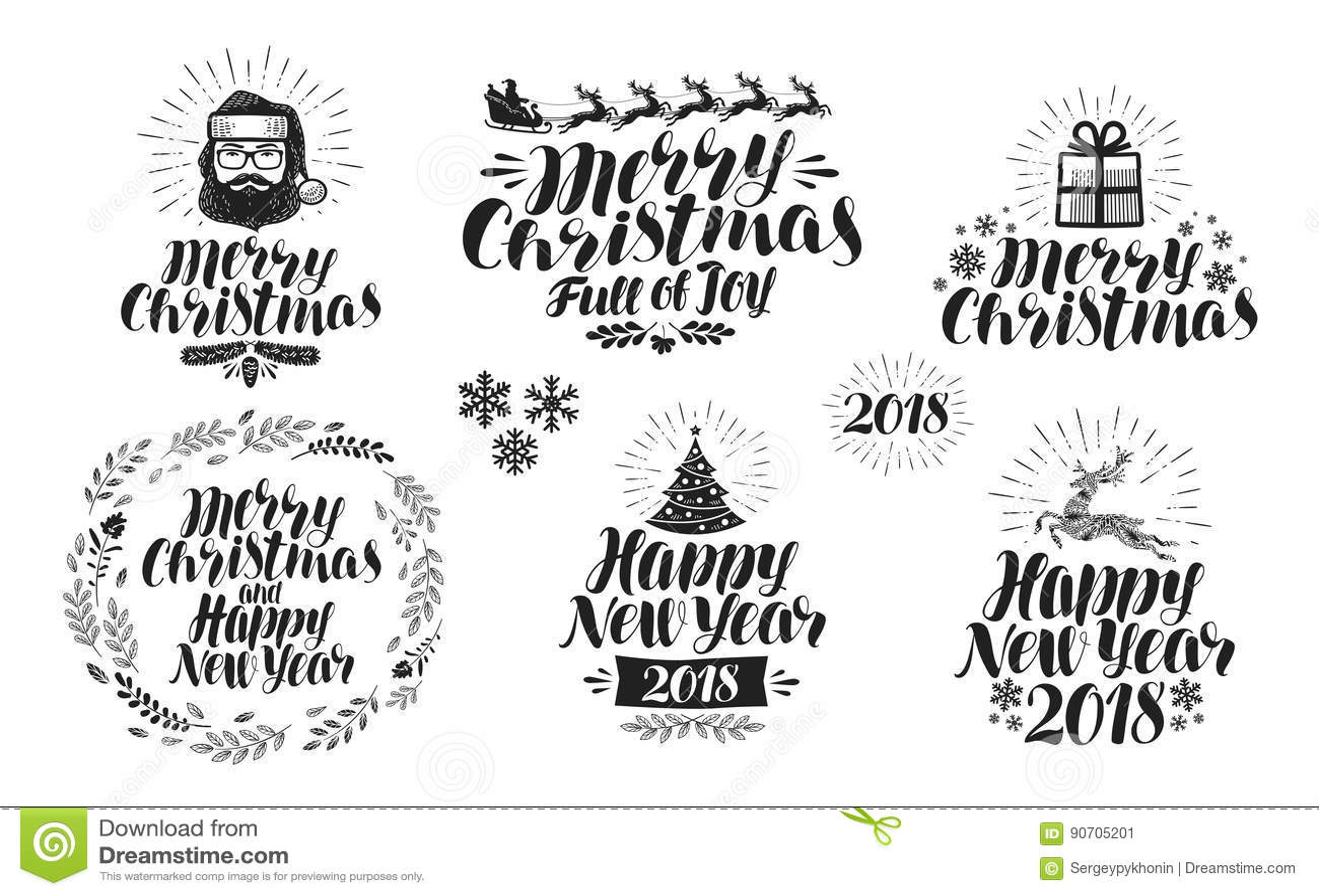 Frohe Weihnachten Oder Guten Rutsch Ins Neue Jahr, Kennsatzfamilie ...