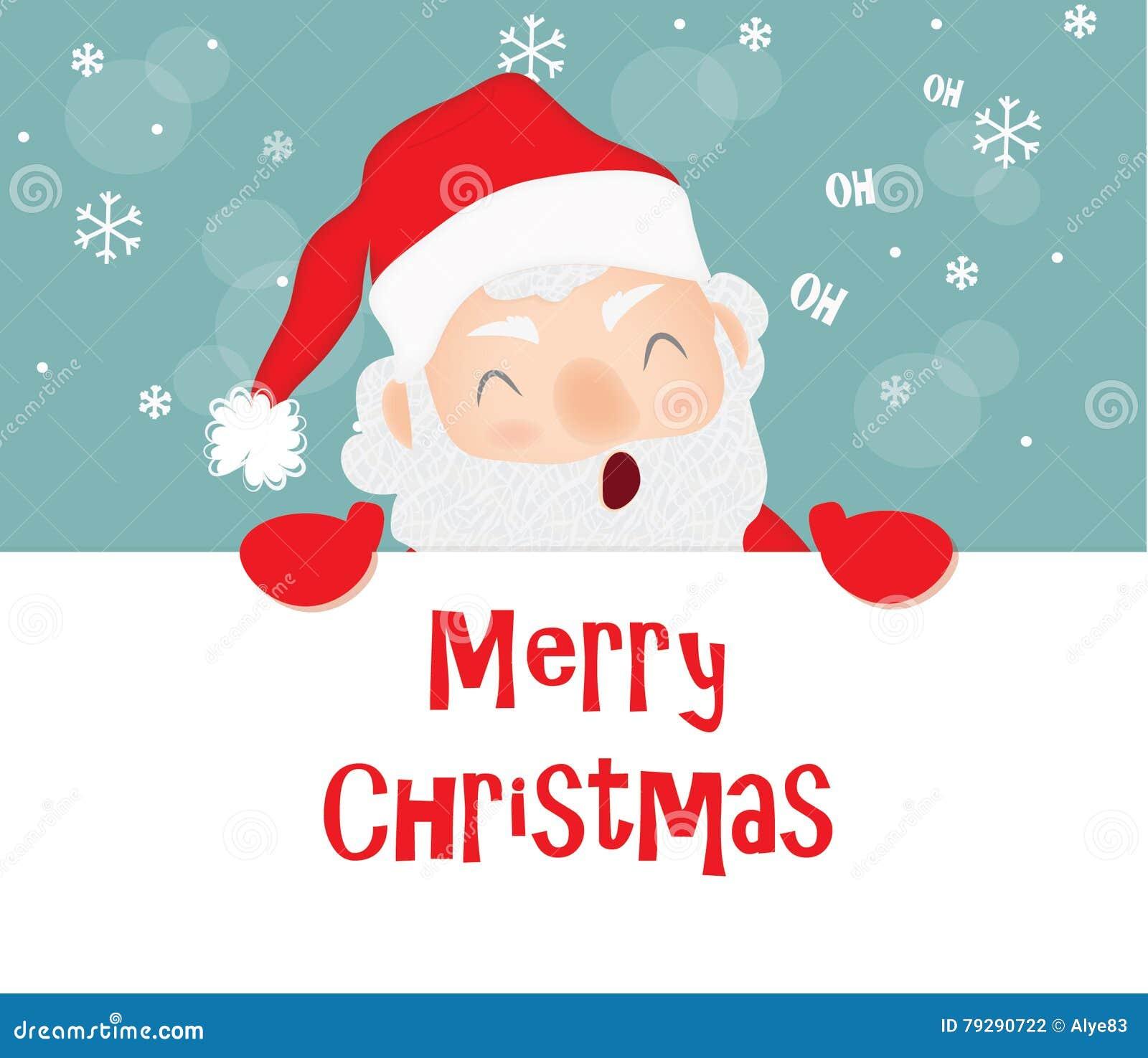Frohe Weihnachten, Santa Claus Stock Abbildung - Illustration von ...