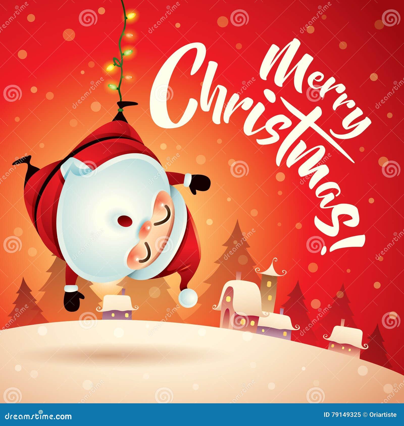 Frohe Weihnachten! Santa Claus In Der Weihnachtsschneeszene ...