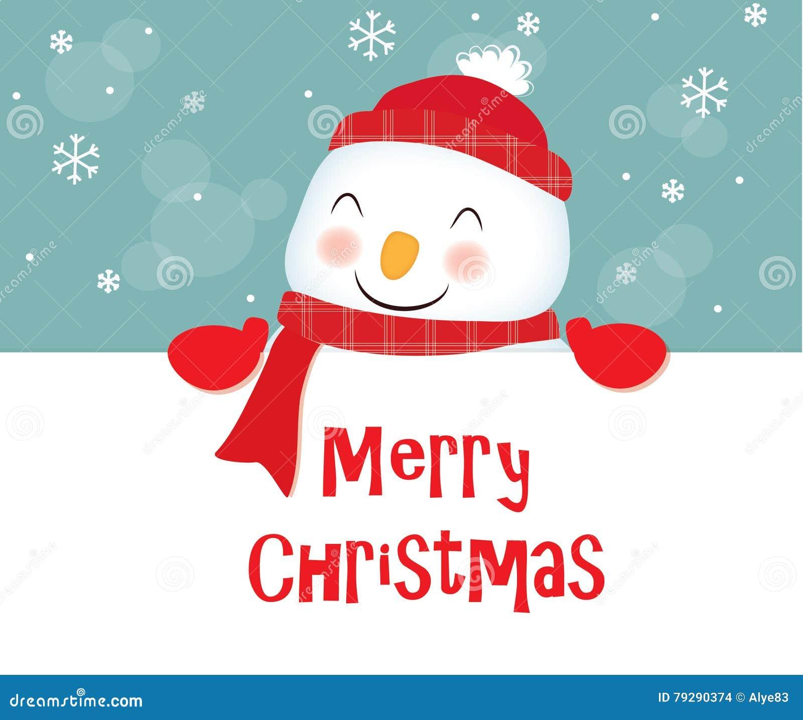 Frohe Weihnachten, Schneemann Stock Abbildung - Illustration von ...
