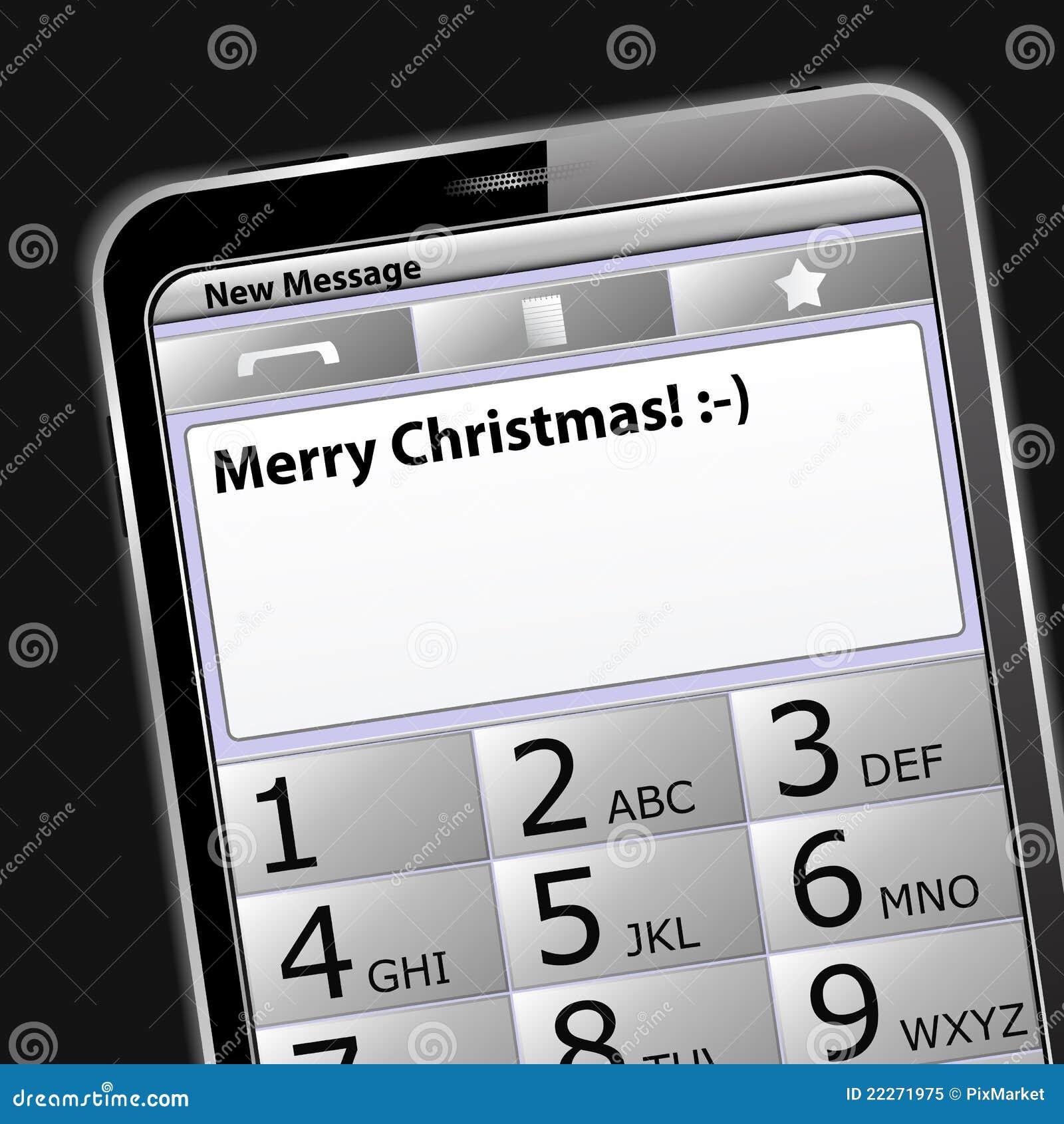 Frohe Weihnachten SMS vektor abbildung. Illustration von telefon ...