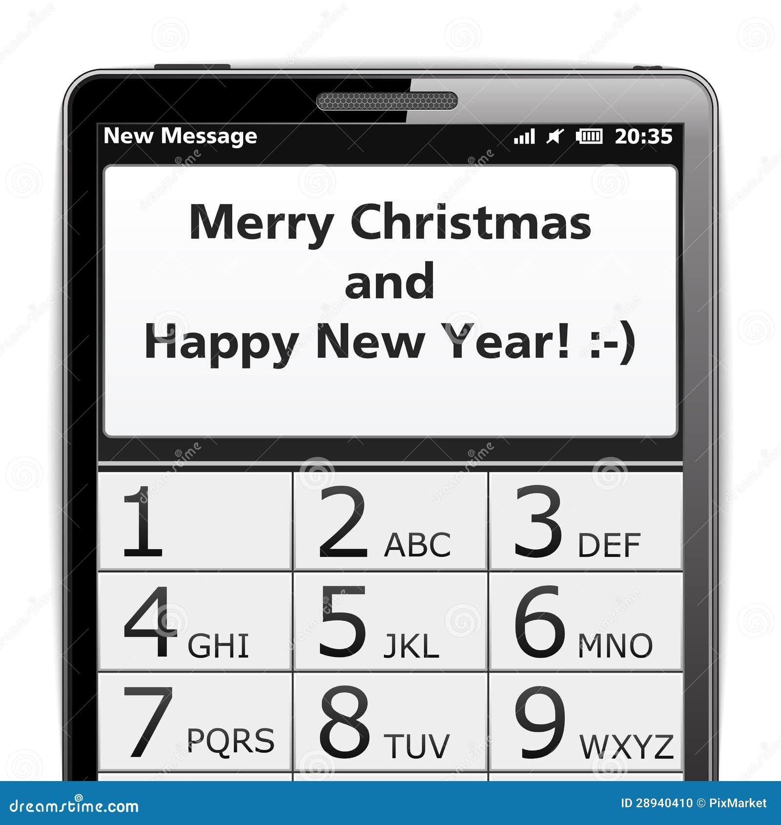 Frohe Weihnachten SMS vektor abbildung. Illustration von verbindung ...