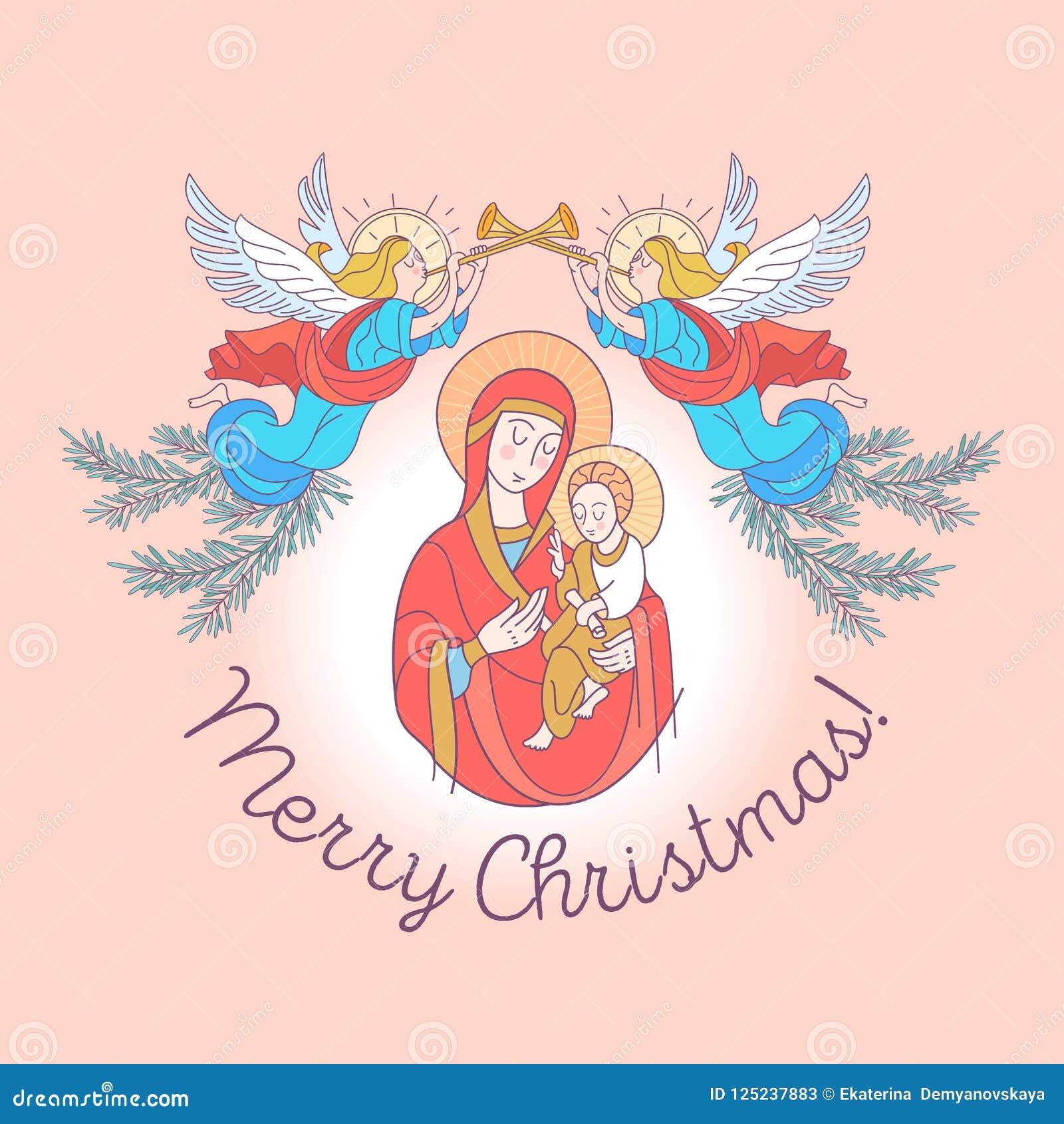 Frohe Weihnachten Jesus.Frohe Weihnachten Tag Des Mutter Die Jungfrau Maria Und Das