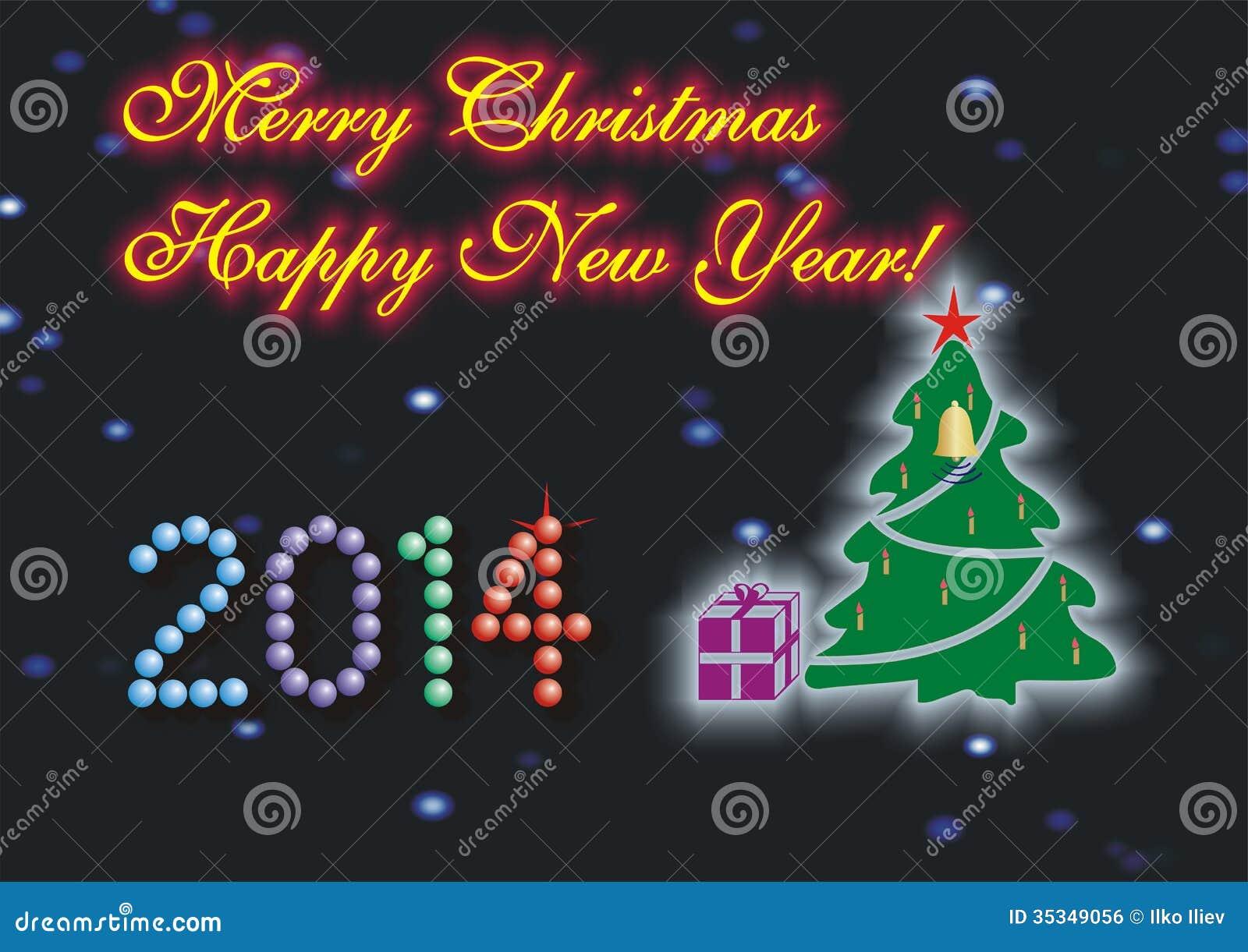 Frohe Weihnachten U. Guten Rutsch Ins Neue Jahr Stockfoto - Bild von ...