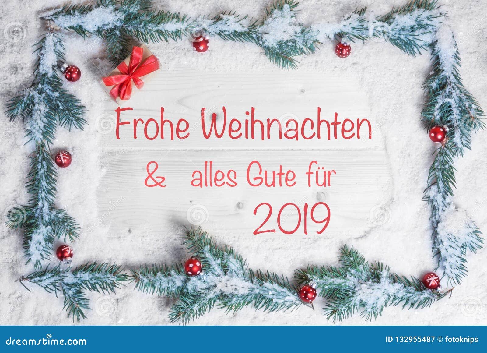 Frohe Weihnachten An Alle.Frohe Weihnachten Und Alles Beste Fur 2019 Stockbild Bild