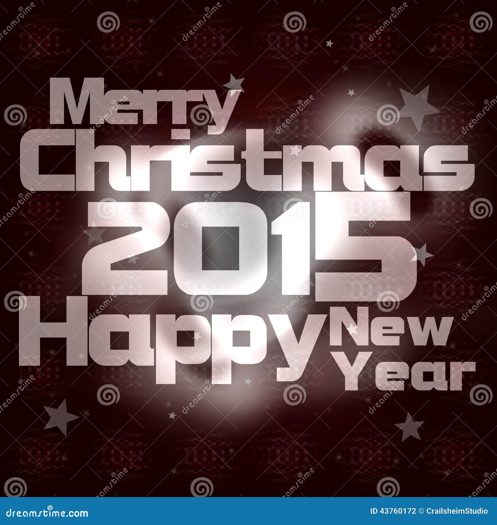 Frohe Weihnachten Und Guten Rutsch Ins Neue Jahr 2015 Stock ...