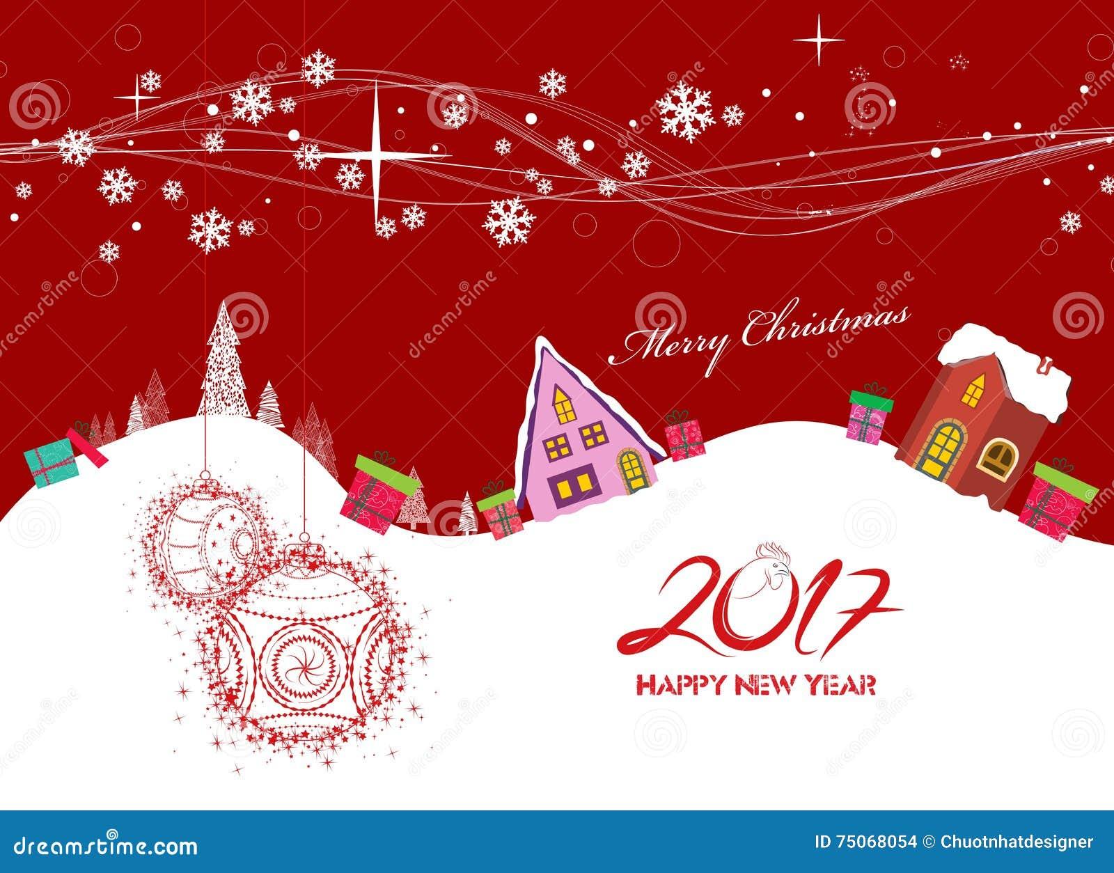 frohe weihnachten und guten rutsch ins neue jahr 2017 vektor abbildung bild 75068054. Black Bedroom Furniture Sets. Home Design Ideas