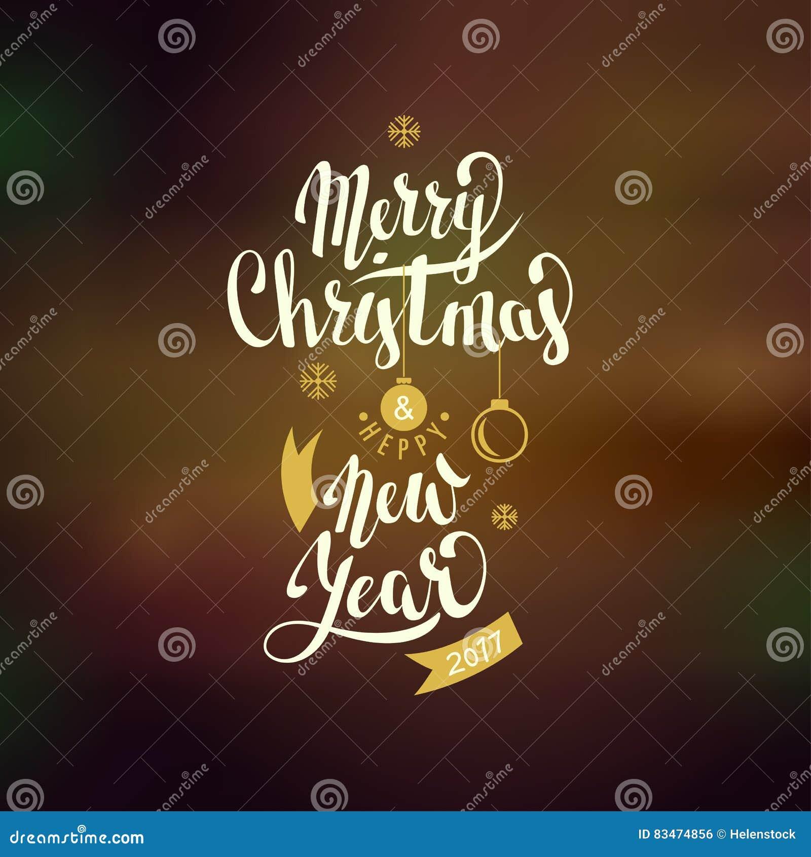 Frohe Weihnachten Und Guten Rutsch Ins Neue Jahr Beschriftung Vektor ...