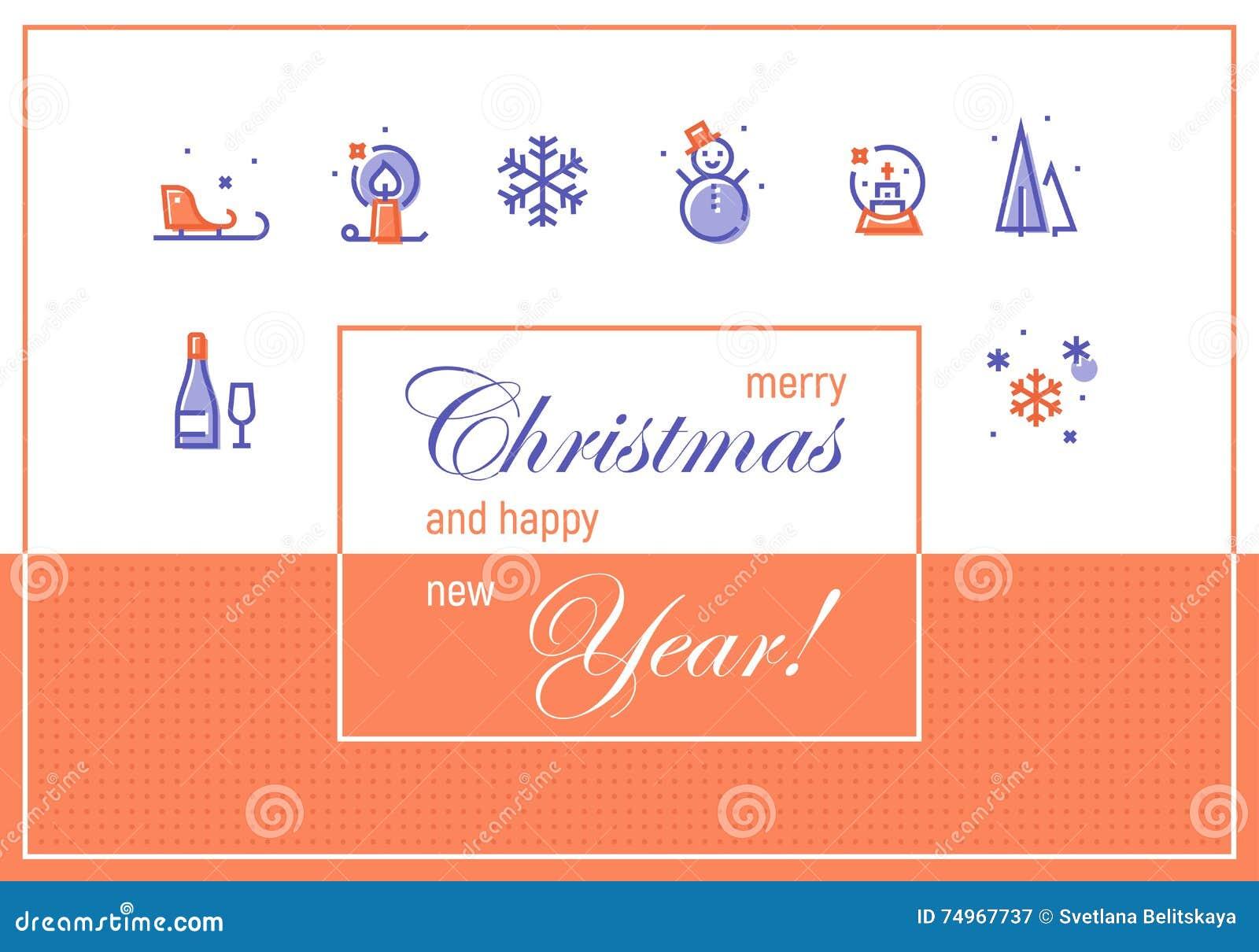 Frohe Weihnachten Und Guten Rutsch Ins Neue Jahr Gruß-Karten ...