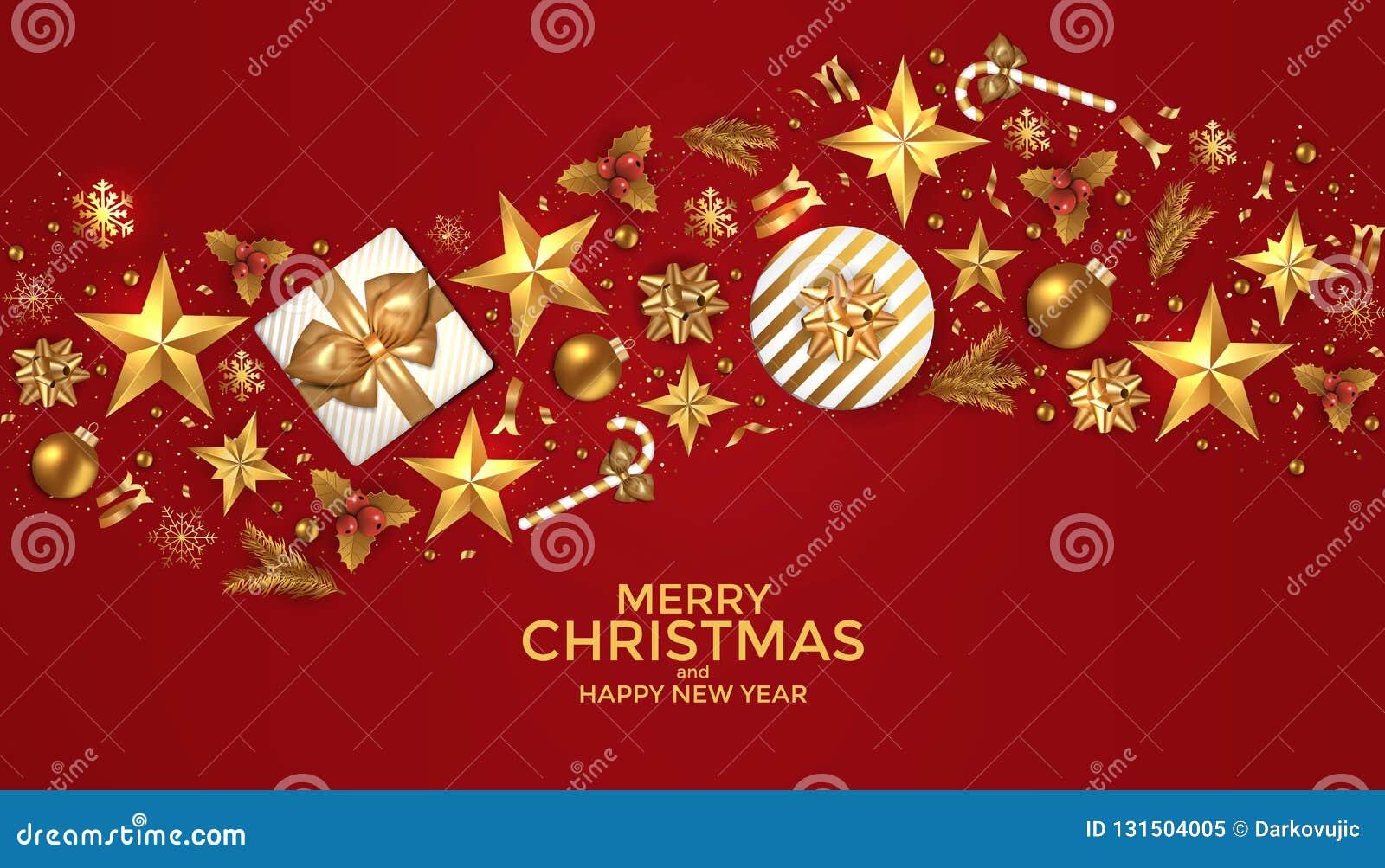 Frohe Weihnachten Und Guten Rutsch Ins Neue Jahr Hintergrunddesign