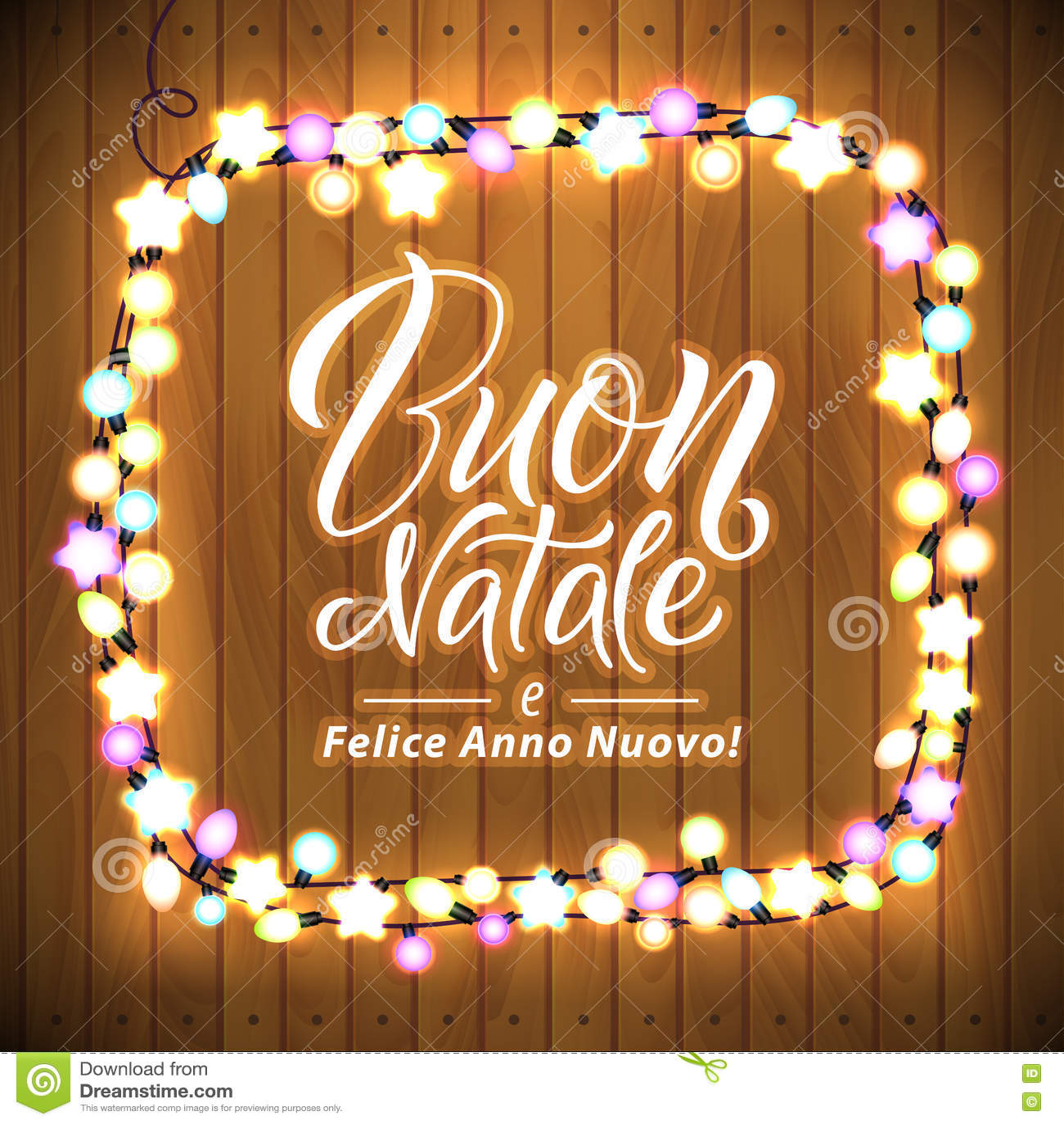 Frohe weihnachten und einen guten rutsch auf italienisch