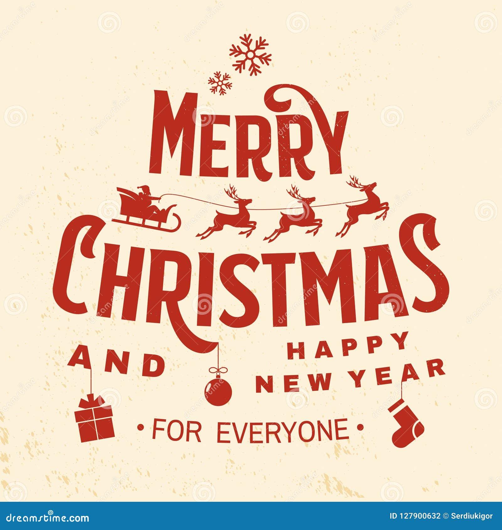 Frohe Weihnachten Aufkleber.Frohe Weihnachten Und Guten Rutsch Ins Neue Jahr Stempeln Der
