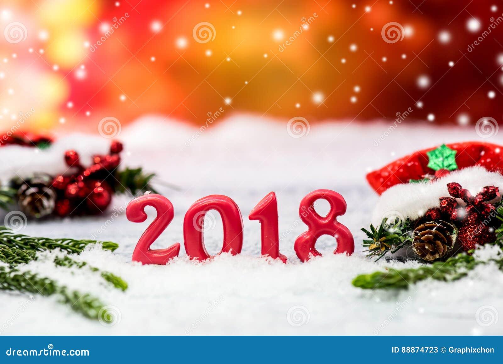Frohe Weihnachten Und Neues Jahr 2018 Stockbild - Bild von jahr ...