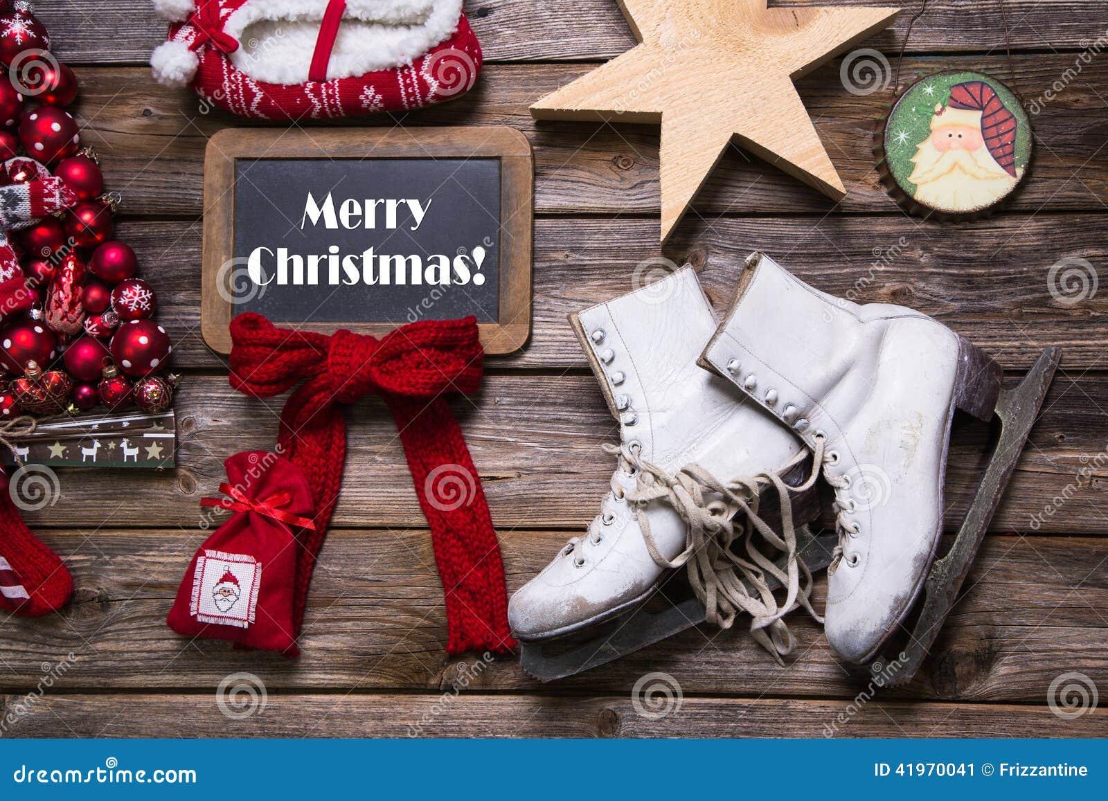 Frohe Weihnachten: Weihnachtsgrußkarte In Den Roten, Weißen Farben ...