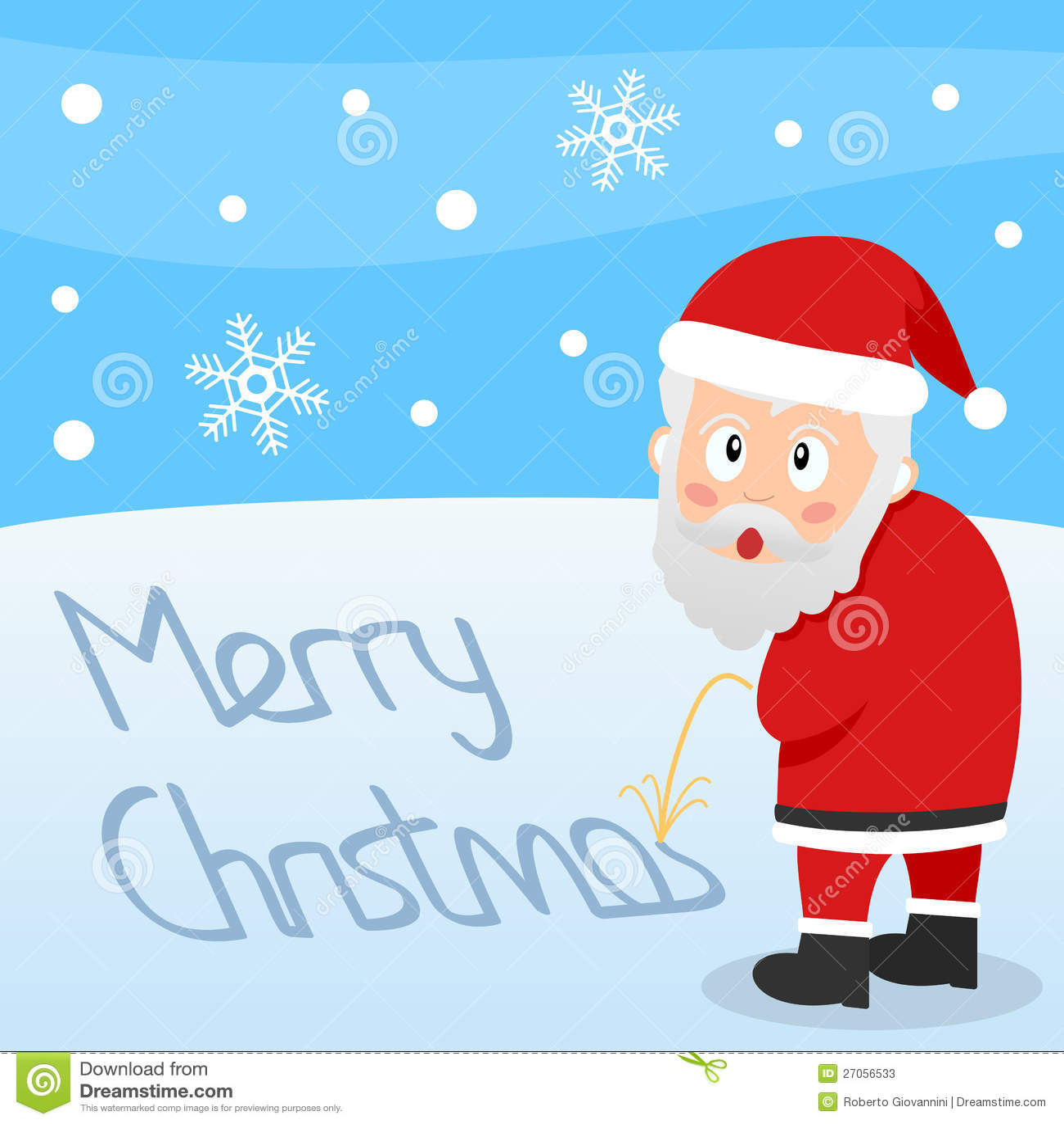 Frohe Weihnachten Weihnachtsmann Vektor Abbildung - Illustration von ...