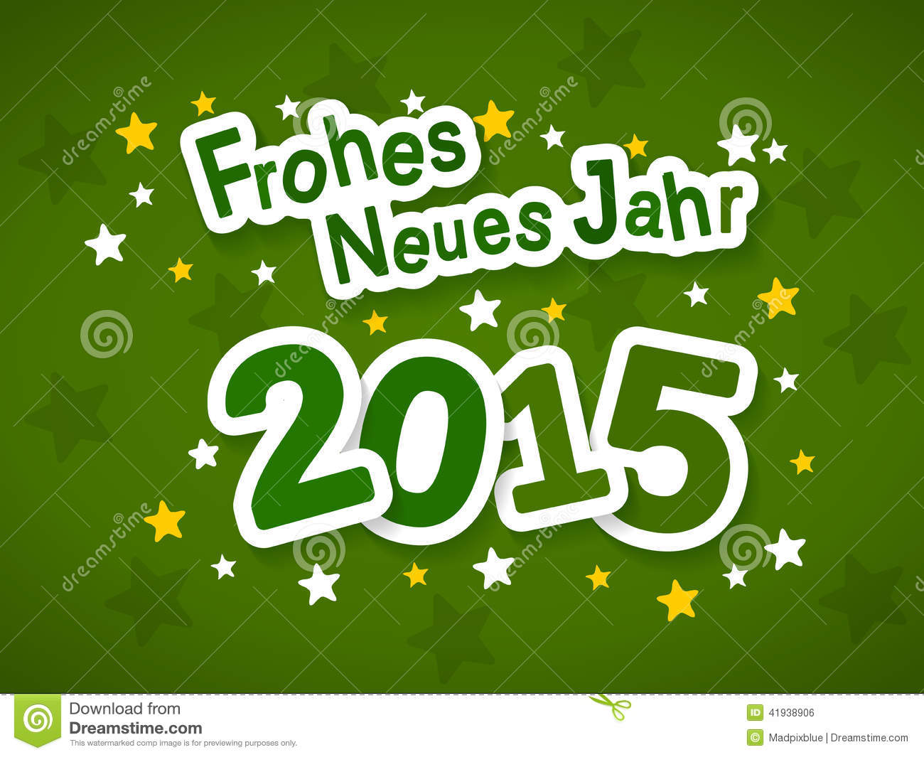 Frohes Neues Jahr 2015 stock vector. Illustration of celebrate ...