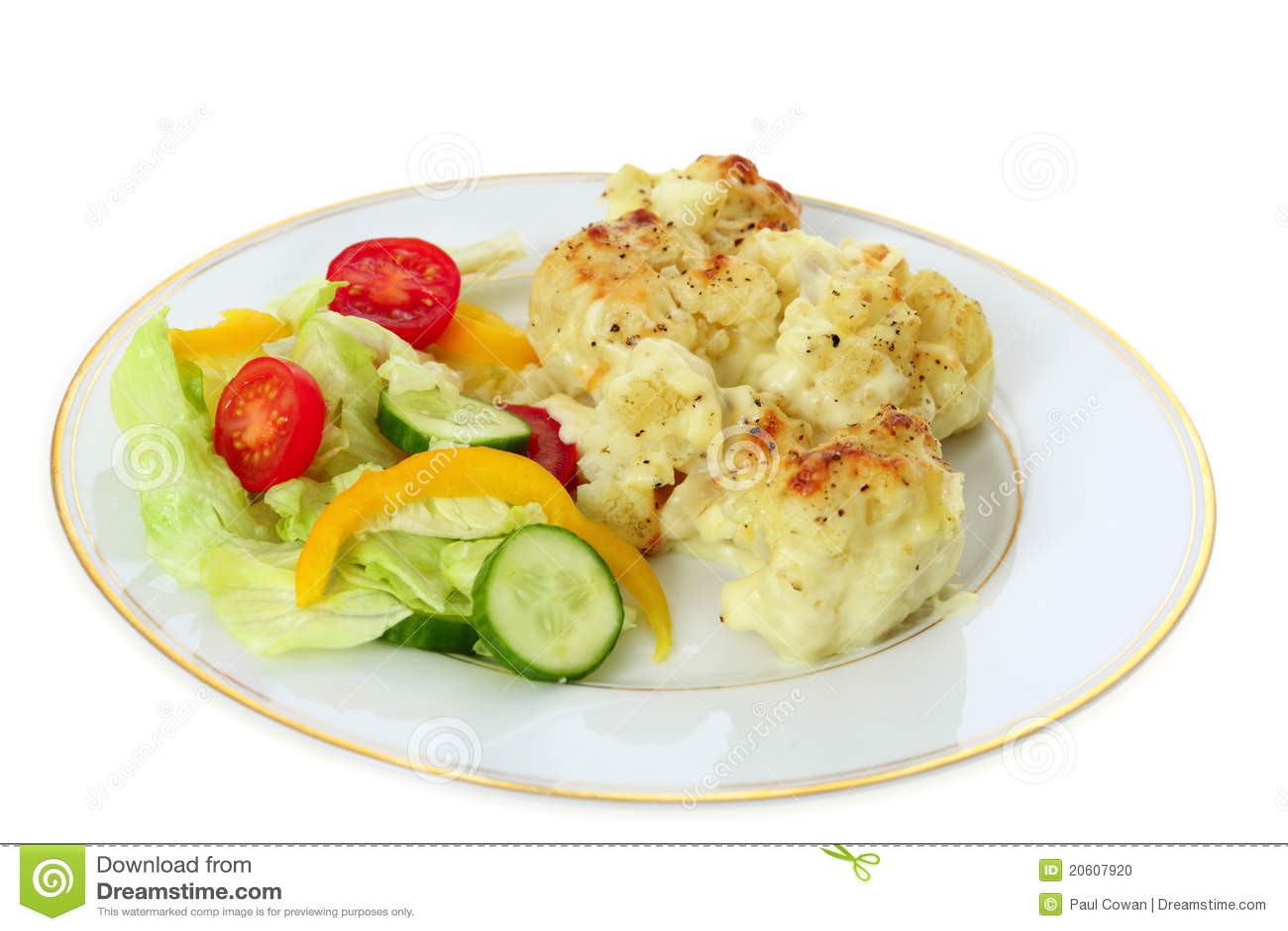 Fromage Et Salade De Chou Fleur Photo Stock Image Du Repas