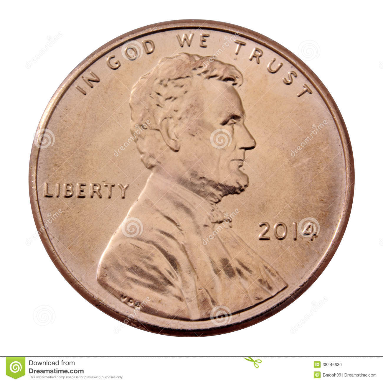 Front of a 2014 penny stock photo image 38246630