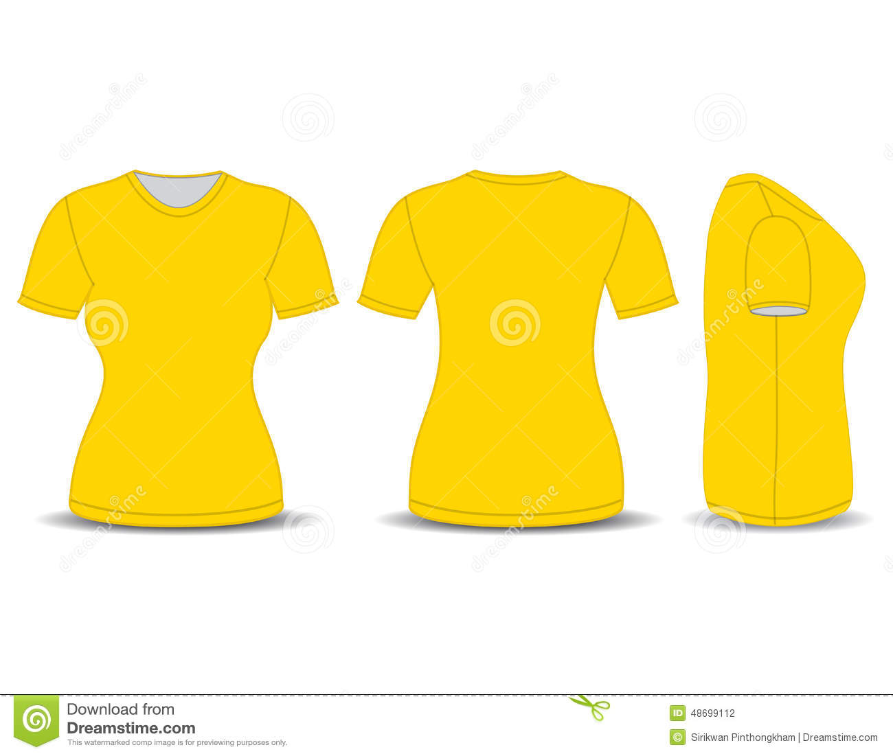 Yellow T Shirt Front And Back | galleryhip.com - The ...