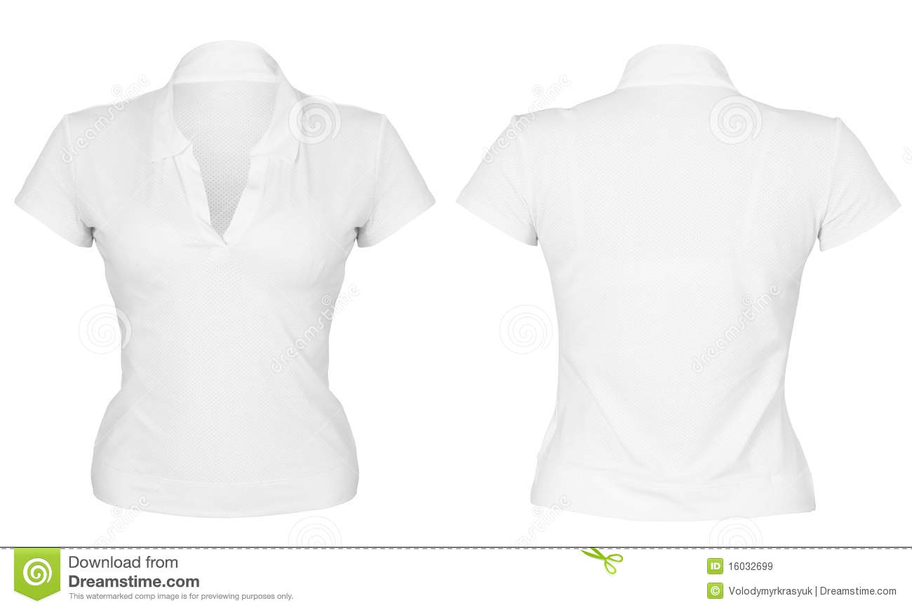Front And Back White T-shirt Stock Images - Image: 33651564